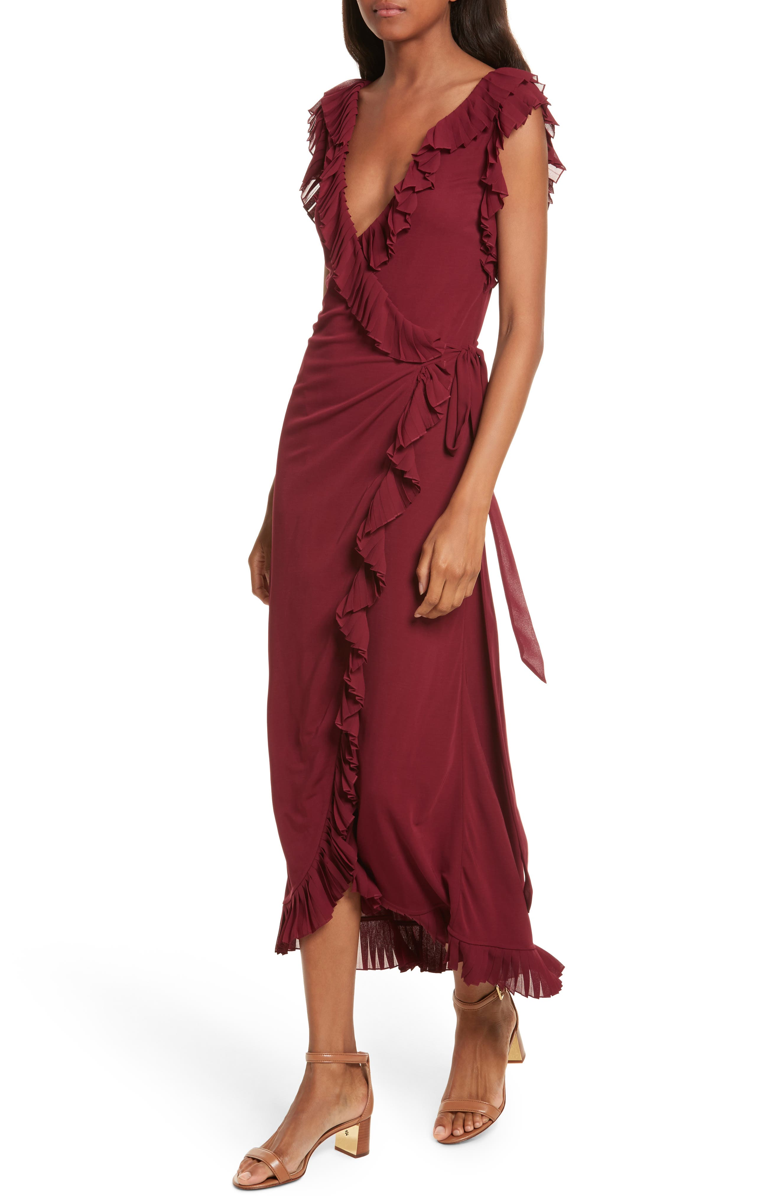 Alternate Image 3  - Tory Burch Whitney Wrap Midi Dress