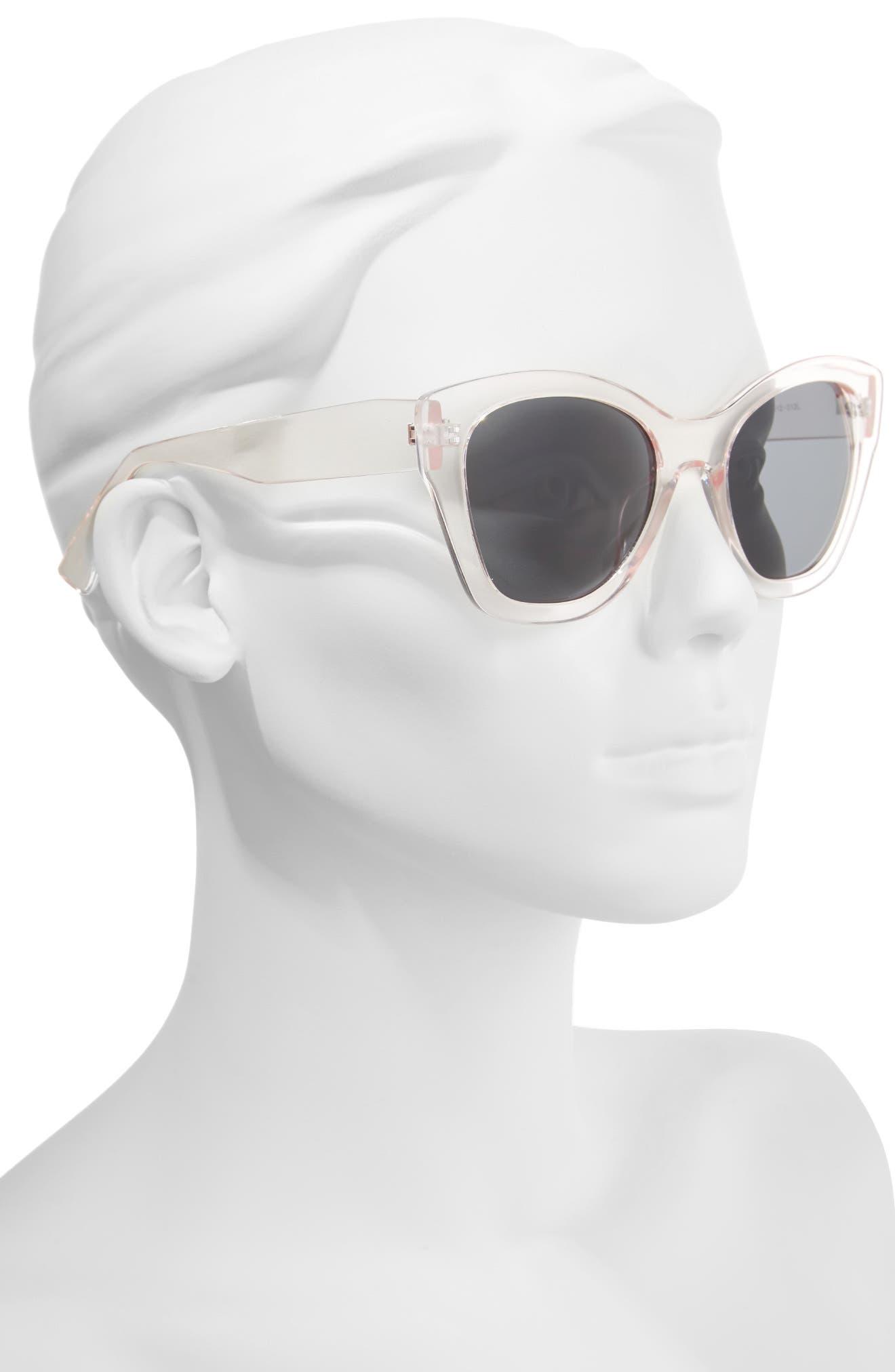 55mm Square Sunglasses,                             Alternate thumbnail 2, color,                             Blush