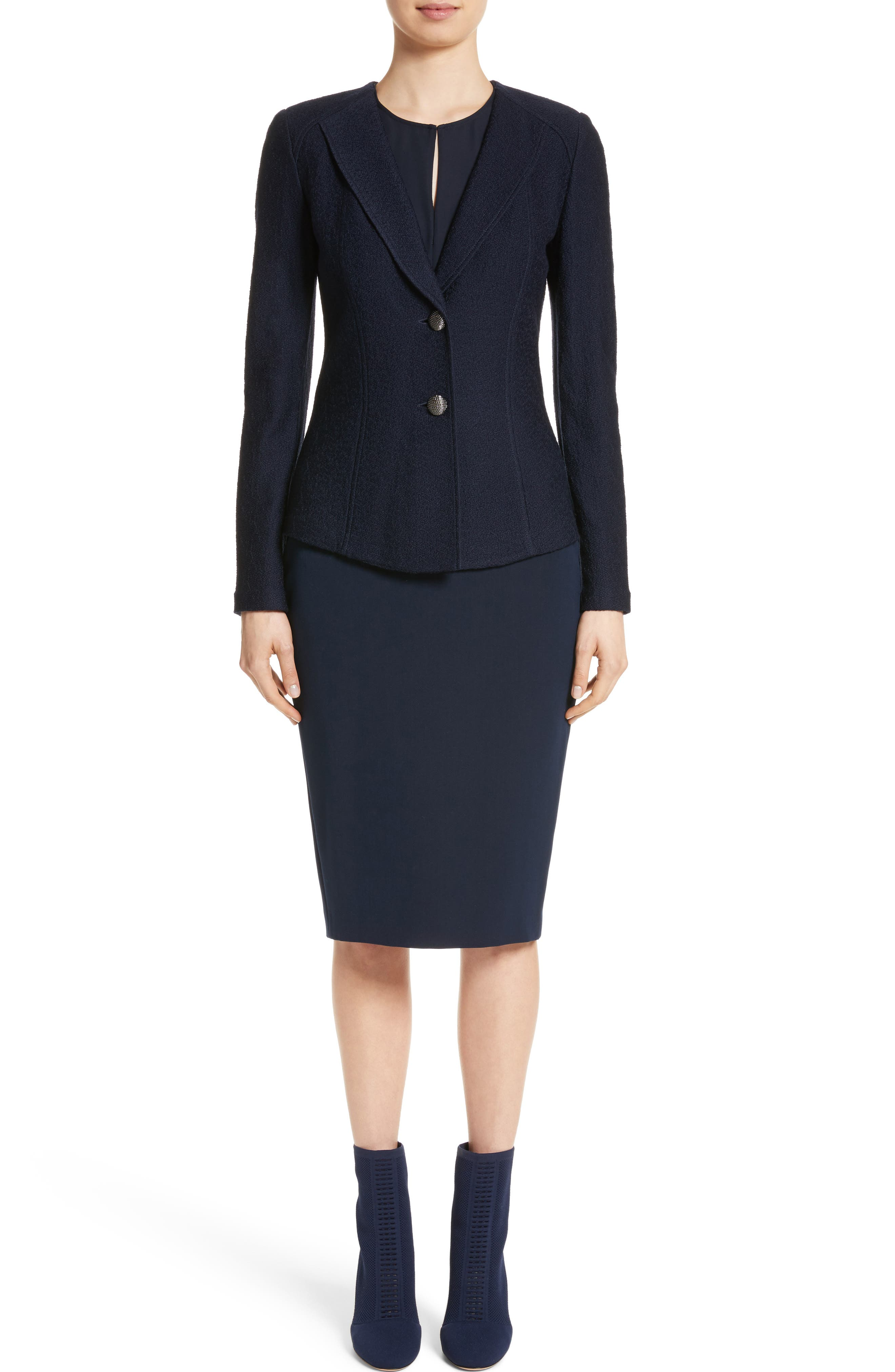 Alternate Image 8  - St. John Collection Bella Double Weave Pencil Skirt