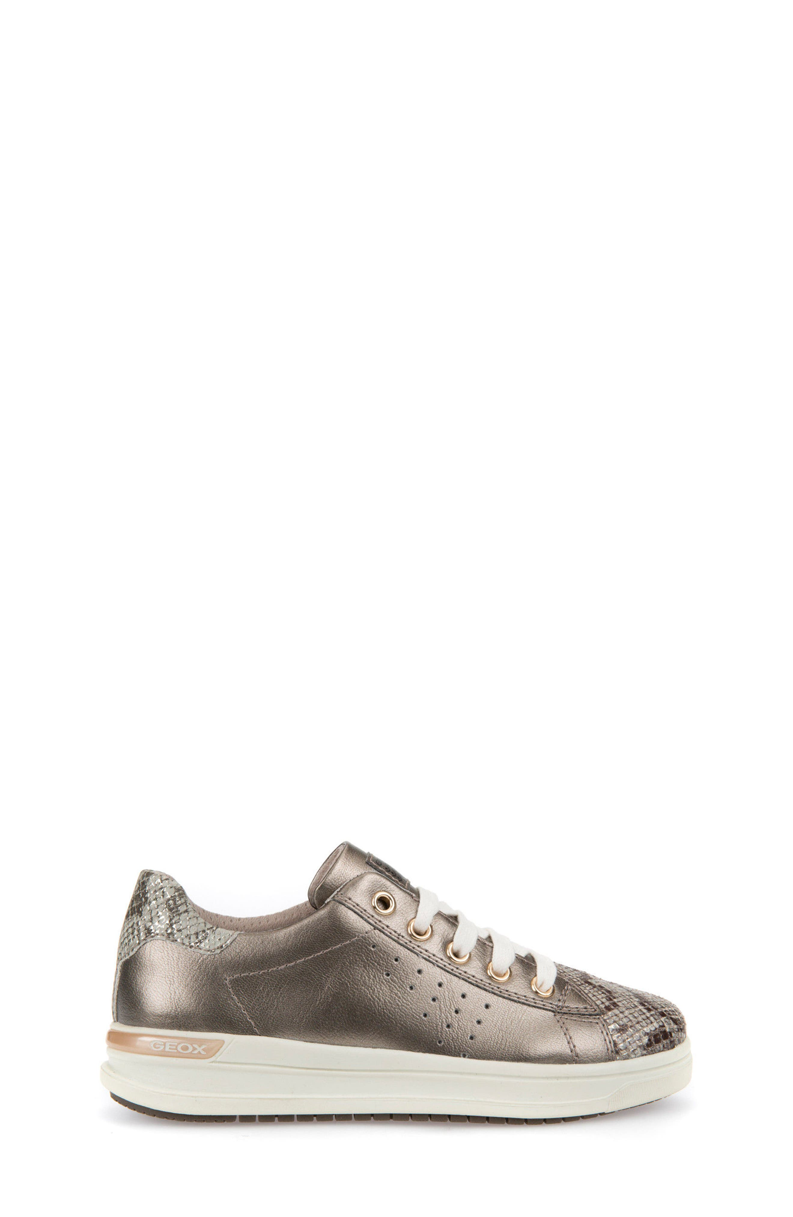 Cave Up Girl Low Top Sneaker,                             Alternate thumbnail 3, color,                             Gold