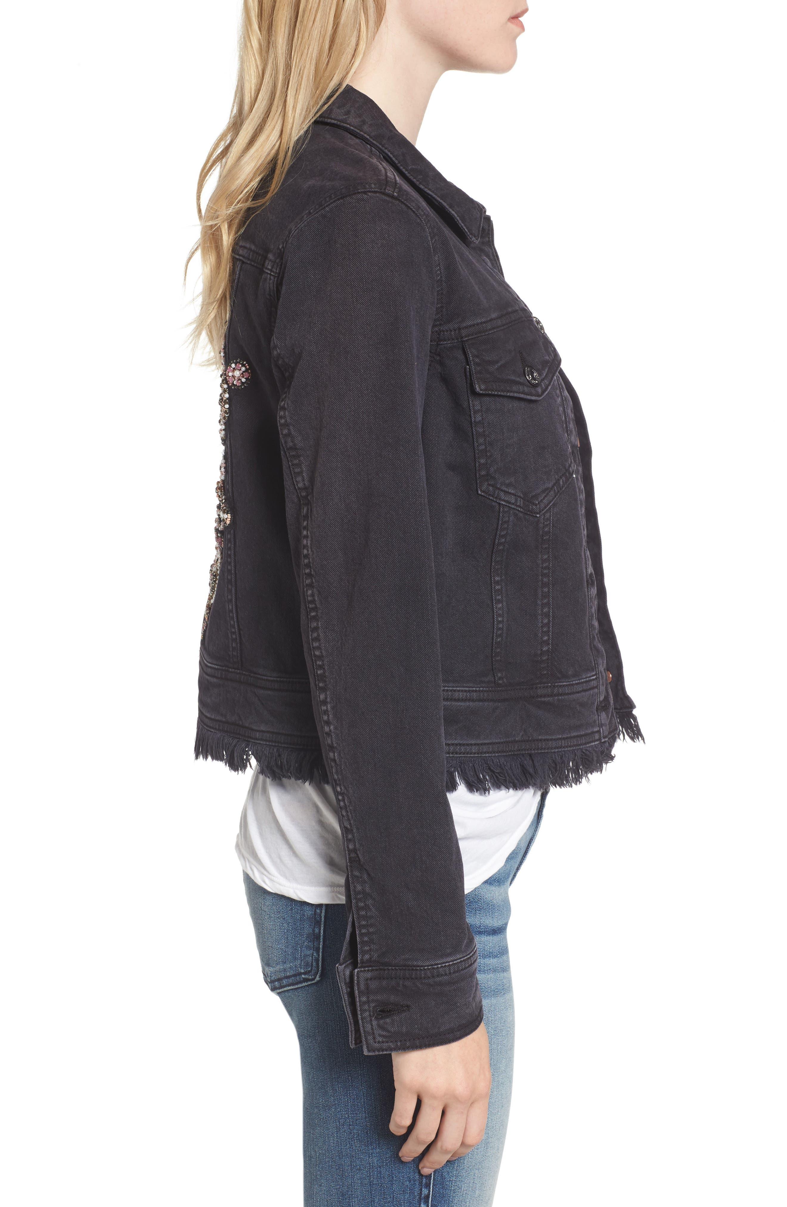 Alternate Image 3  - 7 For All Mankind® Embellished Boyfriend Denim Jacket