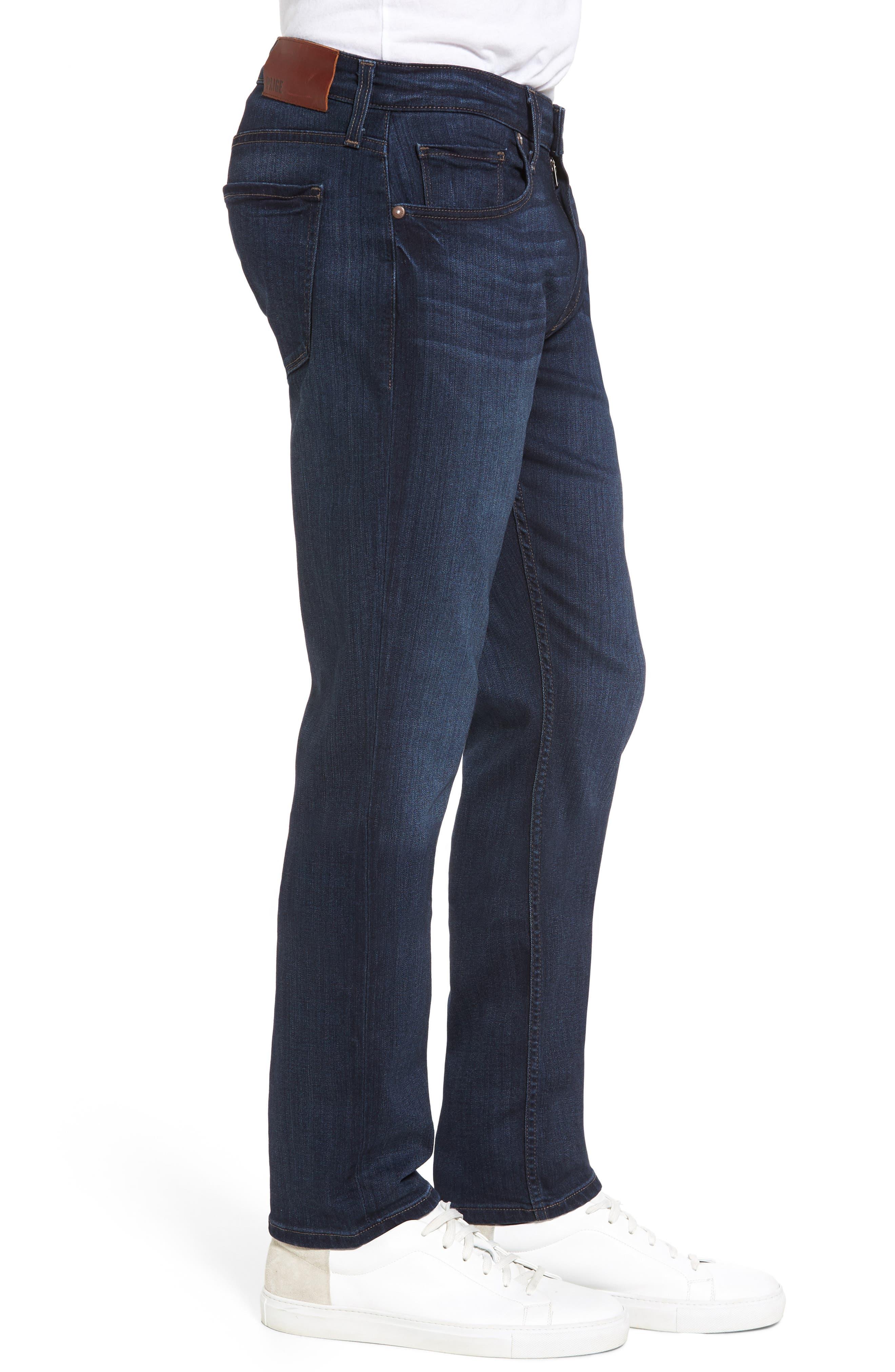 Transcend - Federal Slim Straight Leg Jeans,                             Alternate thumbnail 3, color,                             Barron
