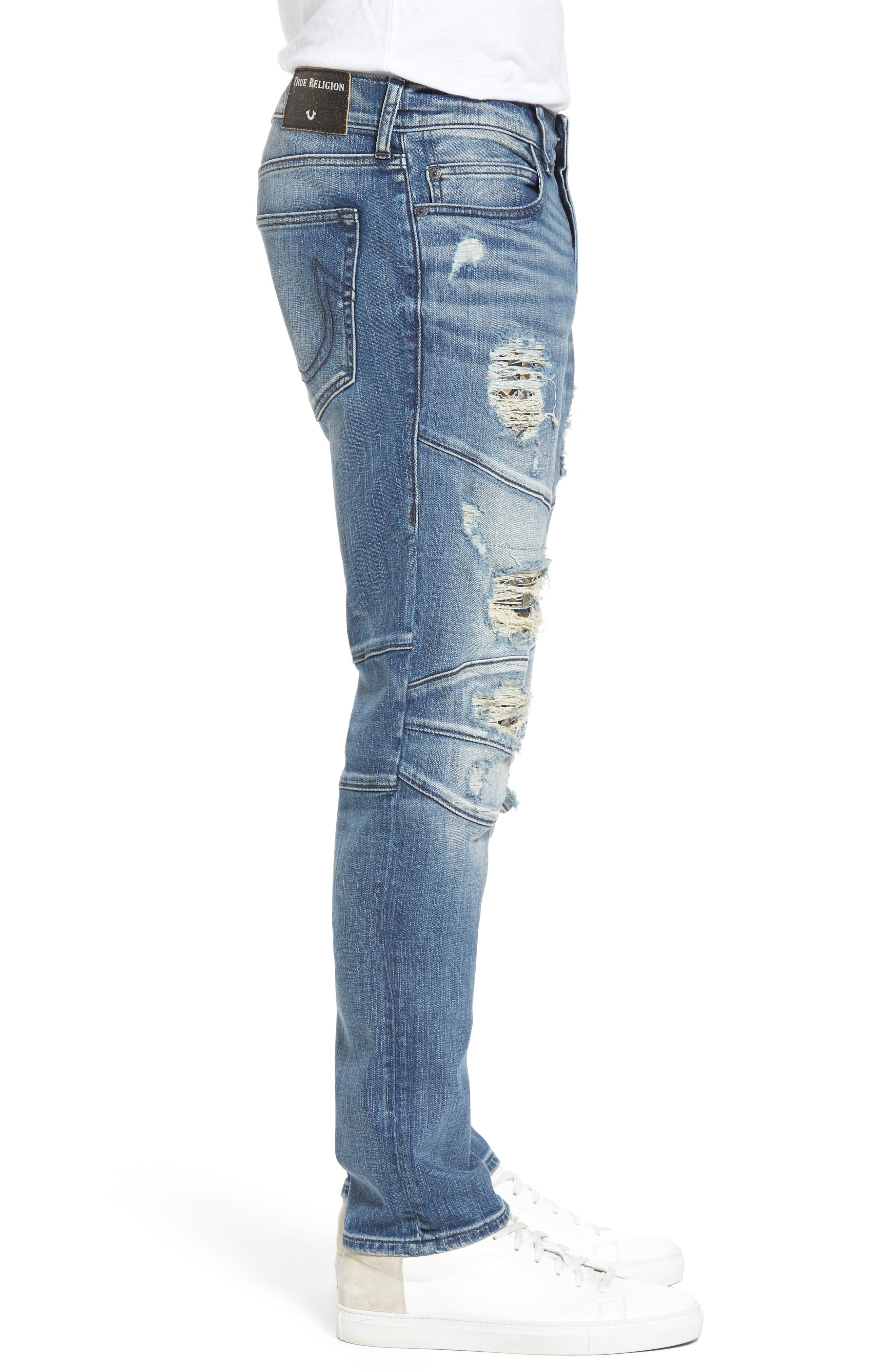 Alternate Image 3  - True Religion Brand Jeans Rocco Skinny Fit Jeans (Indigo Clutch)