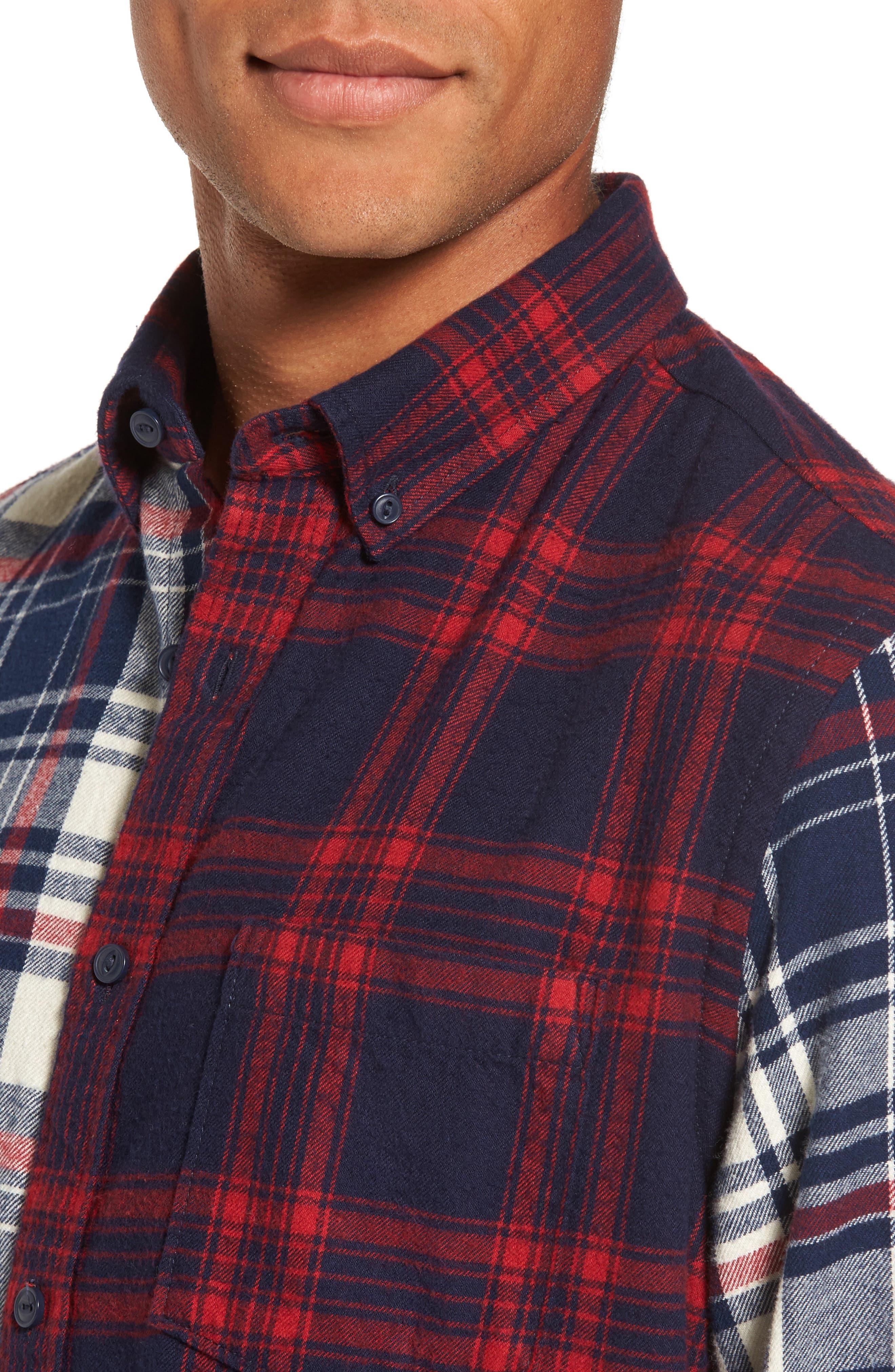Alternate Image 4  - Nordstrom Men's Shop Trim Fit Patchwork Sport Shirt