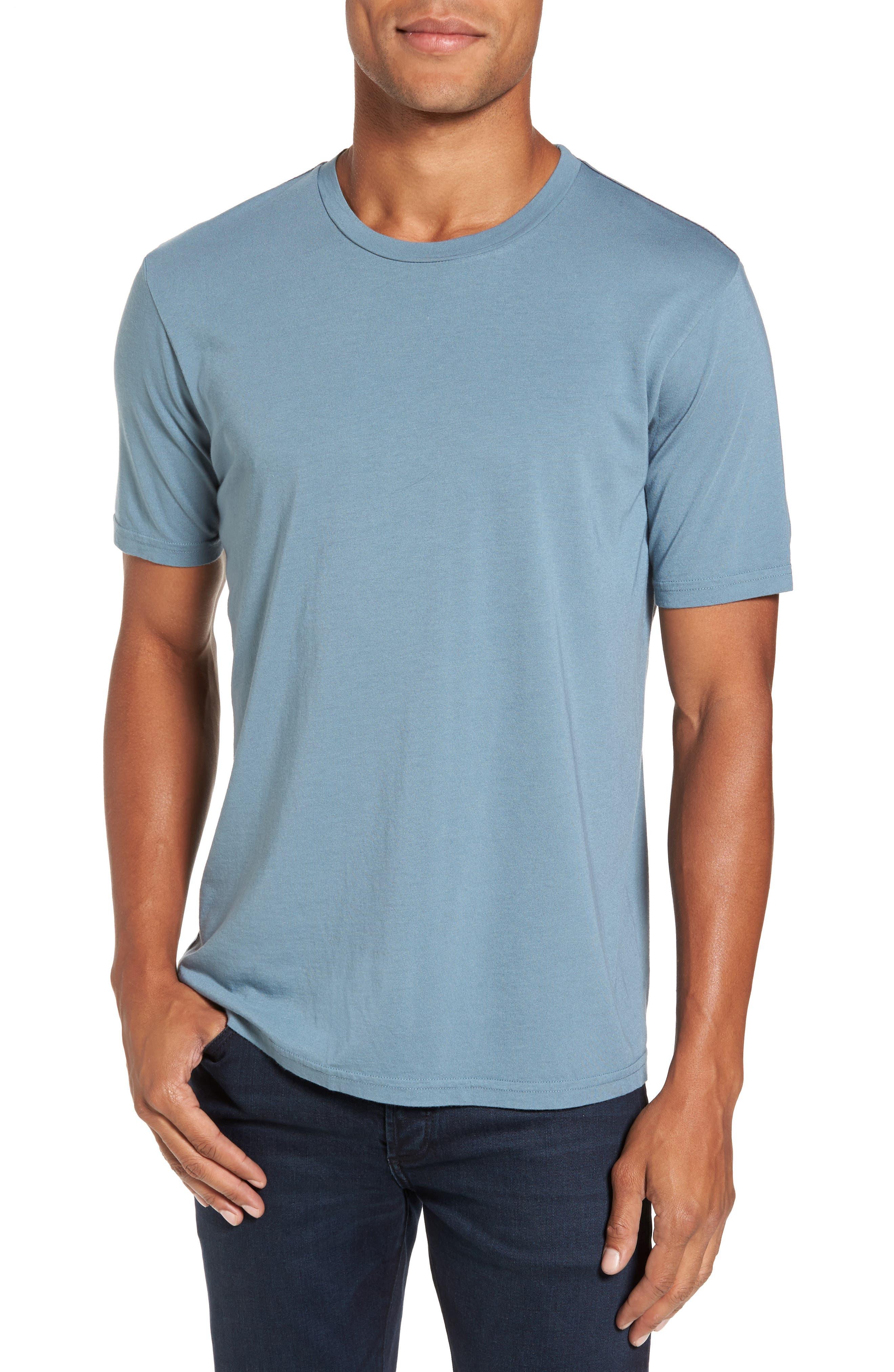 Crewneck T-Shirt,                         Main,                         color, Real Teal
