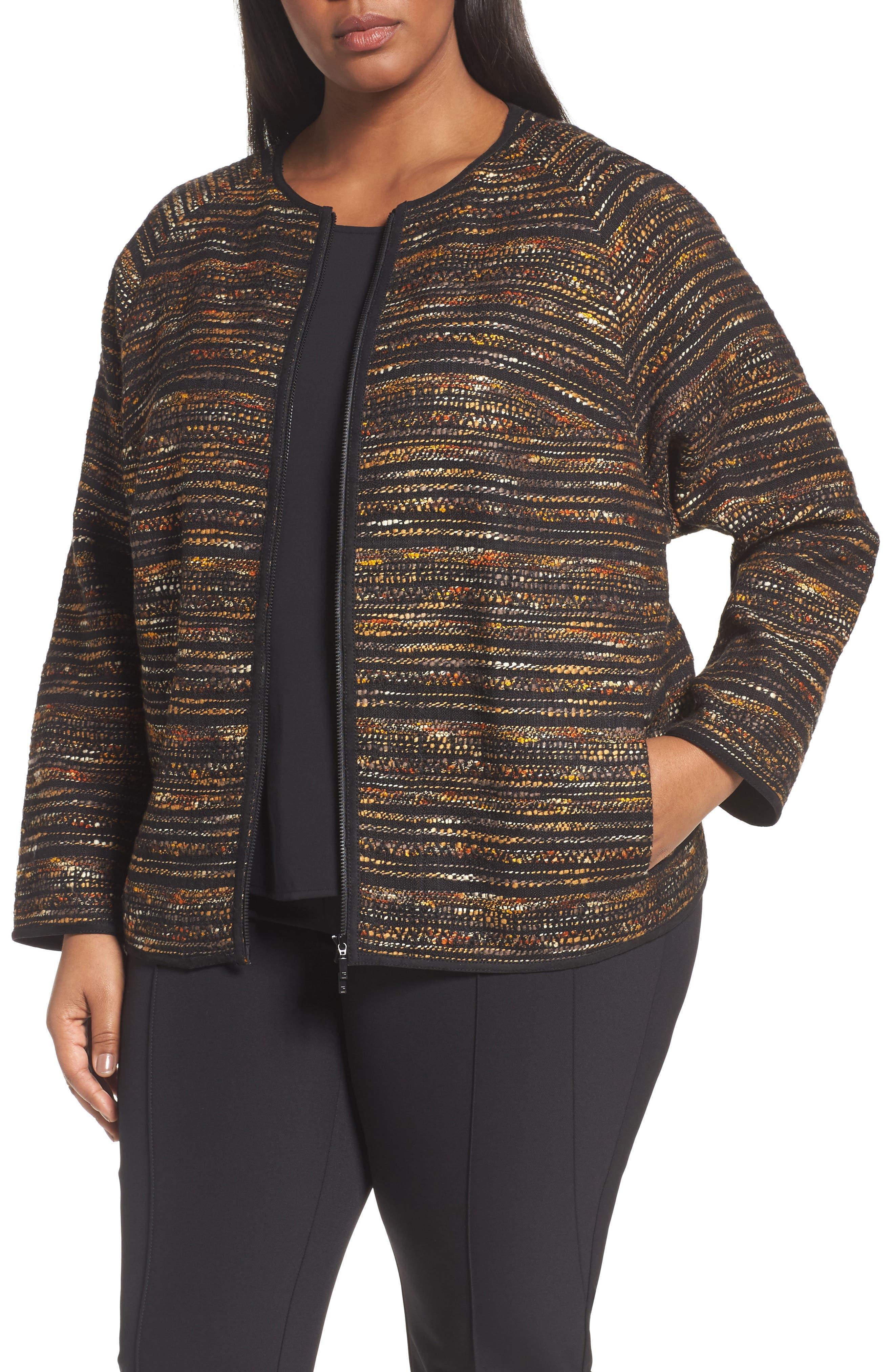 Main Image - Lafayette 148 New York Alexa Tweed Jacket (Plus Size)