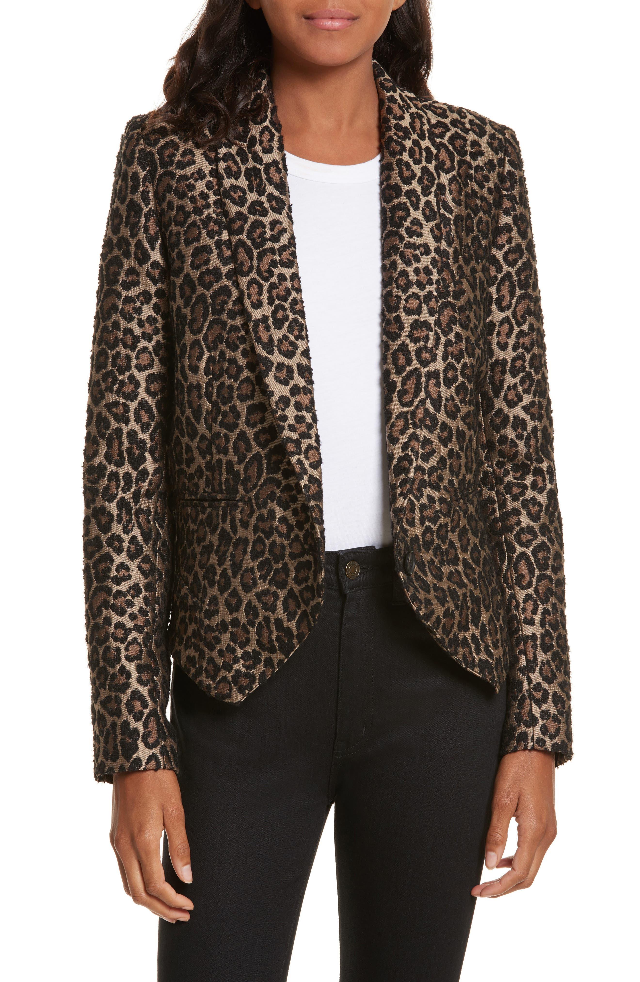 Smythe Anytime Leopard Jacquard Blazer