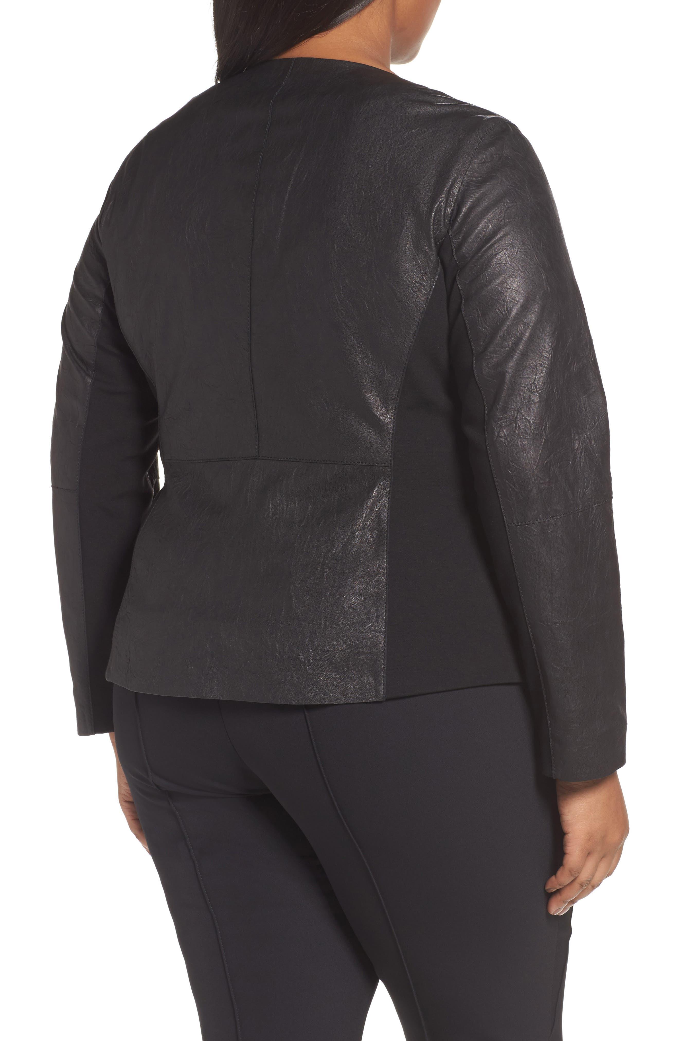 Aimes Leather Jacket,                             Alternate thumbnail 2, color,                             Black