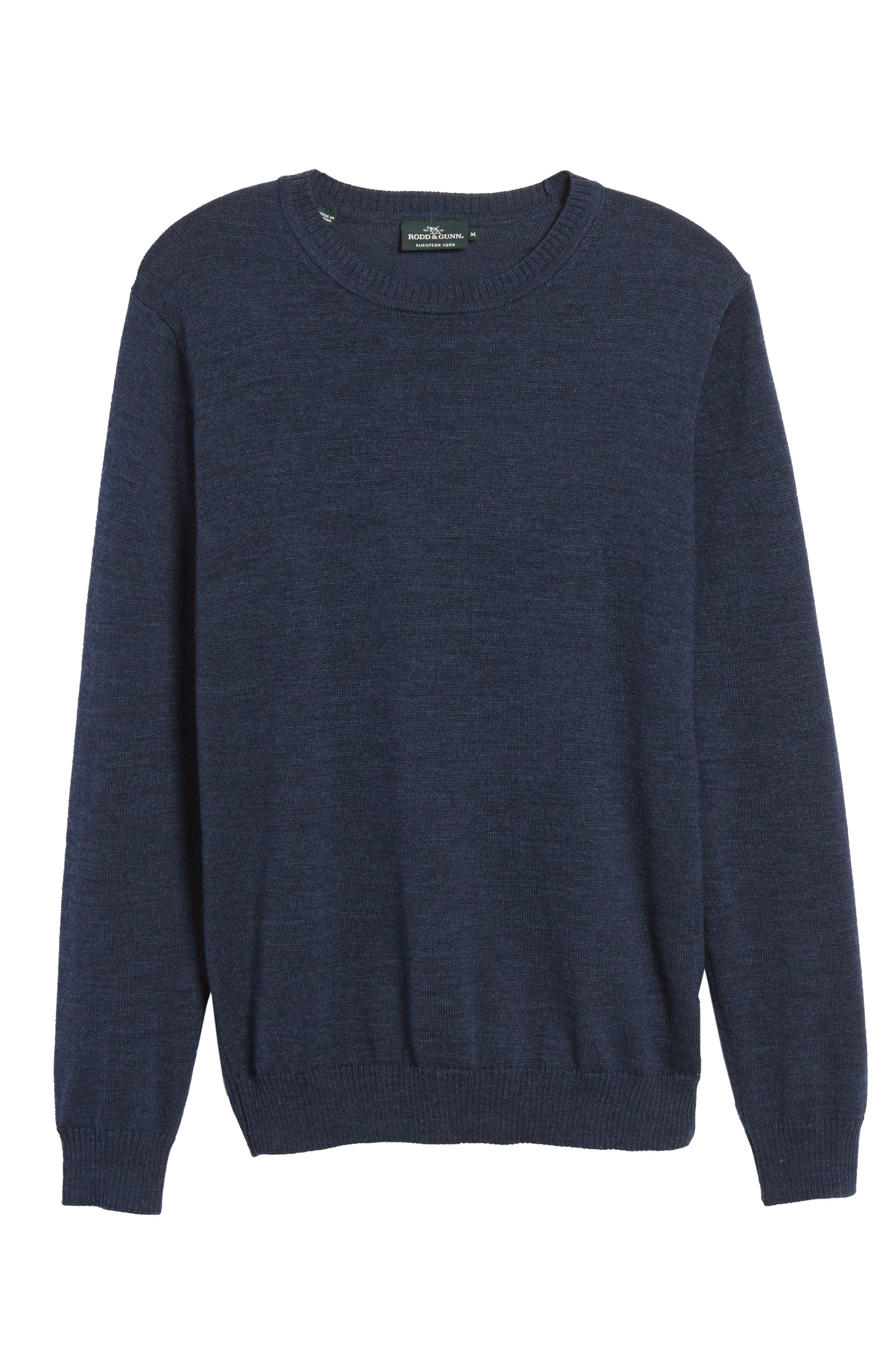 Bannockburn Mélange Merino Wool Sweater,                             Alternate thumbnail 6, color,                             Ink
