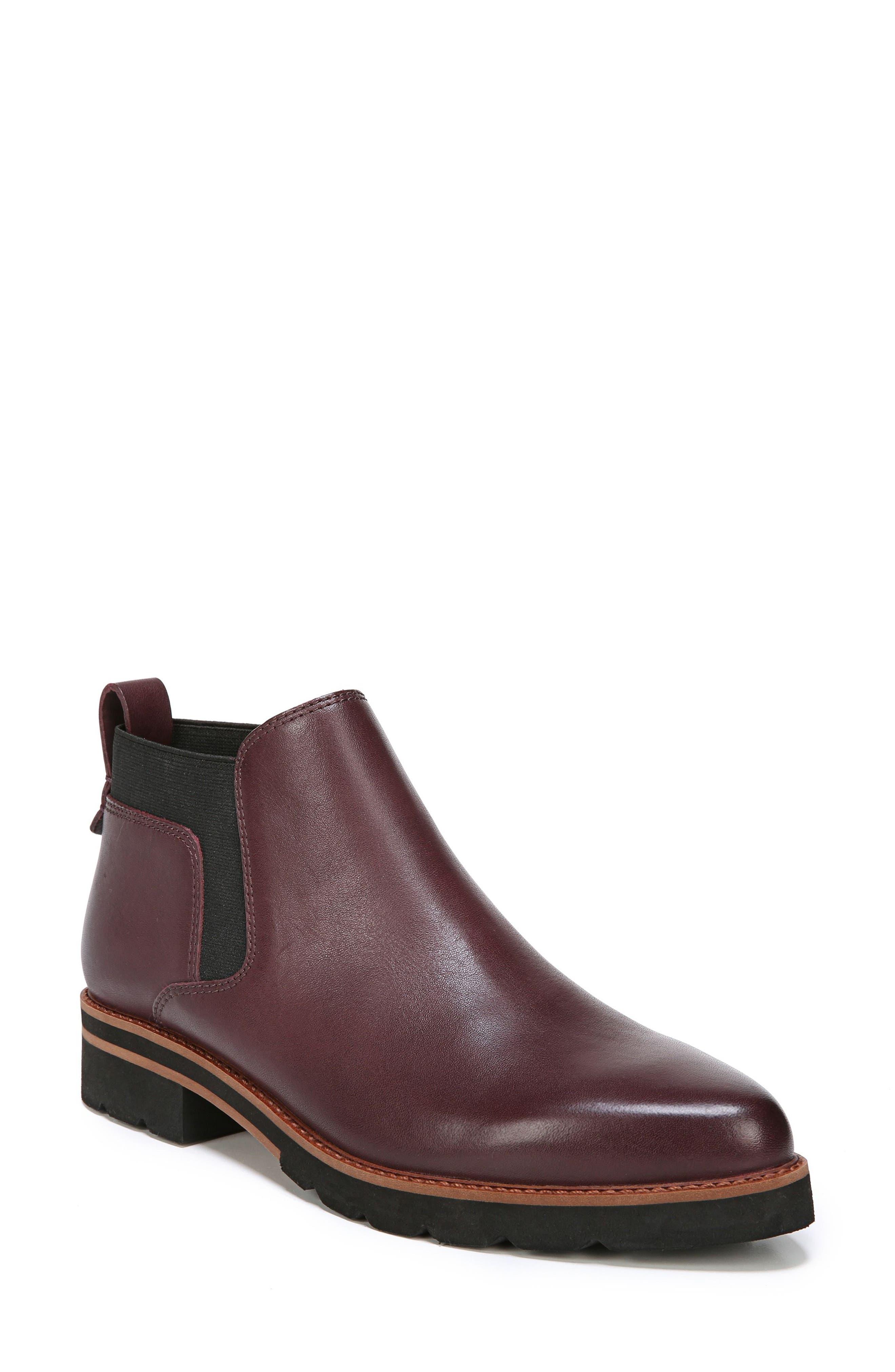 Bringham Bootie,                             Main thumbnail 1, color,                             Dark Burgundy Leather