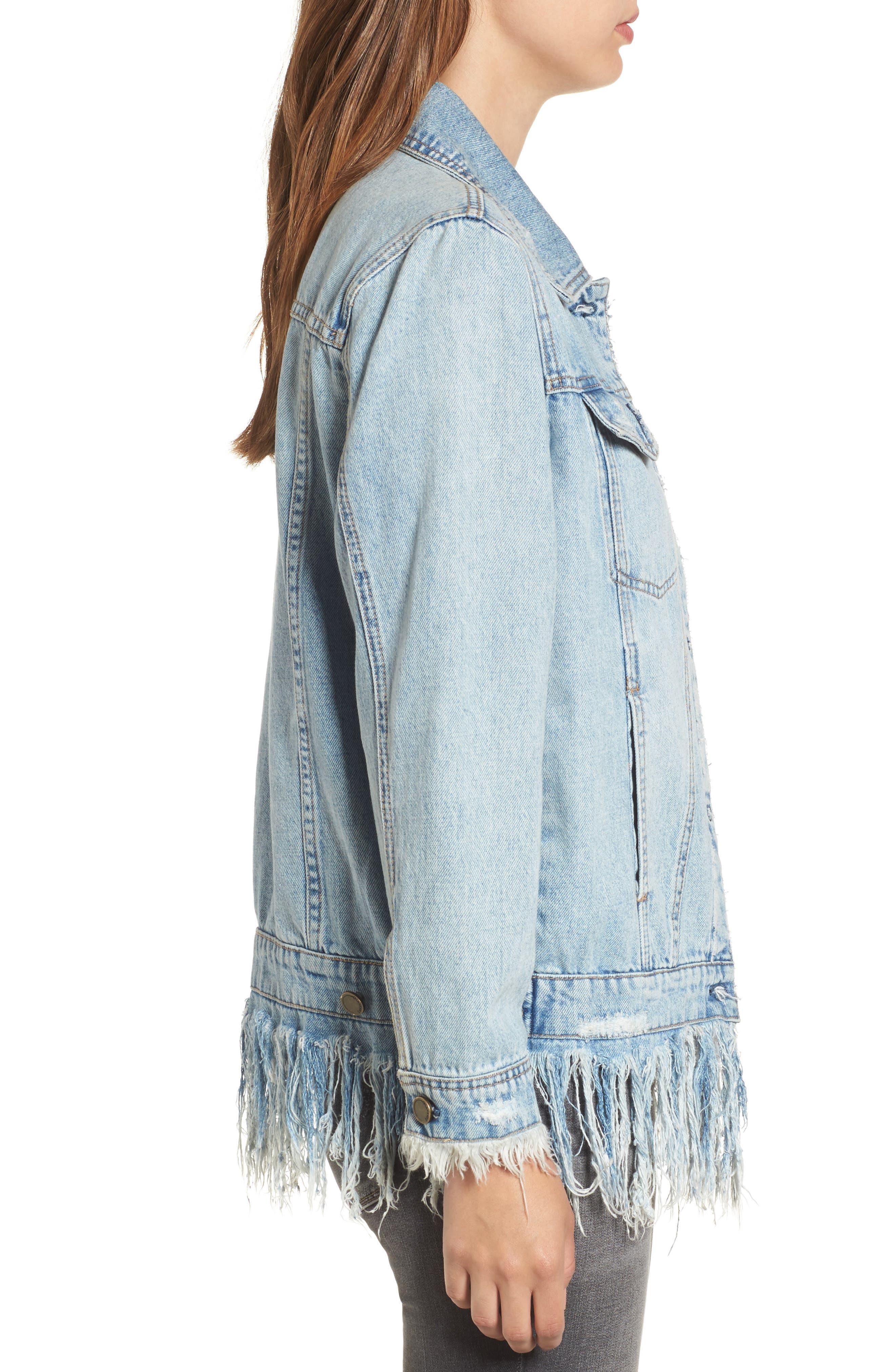 Alternate Image 3  - BLANKNYC Whiplash Denim Jacket