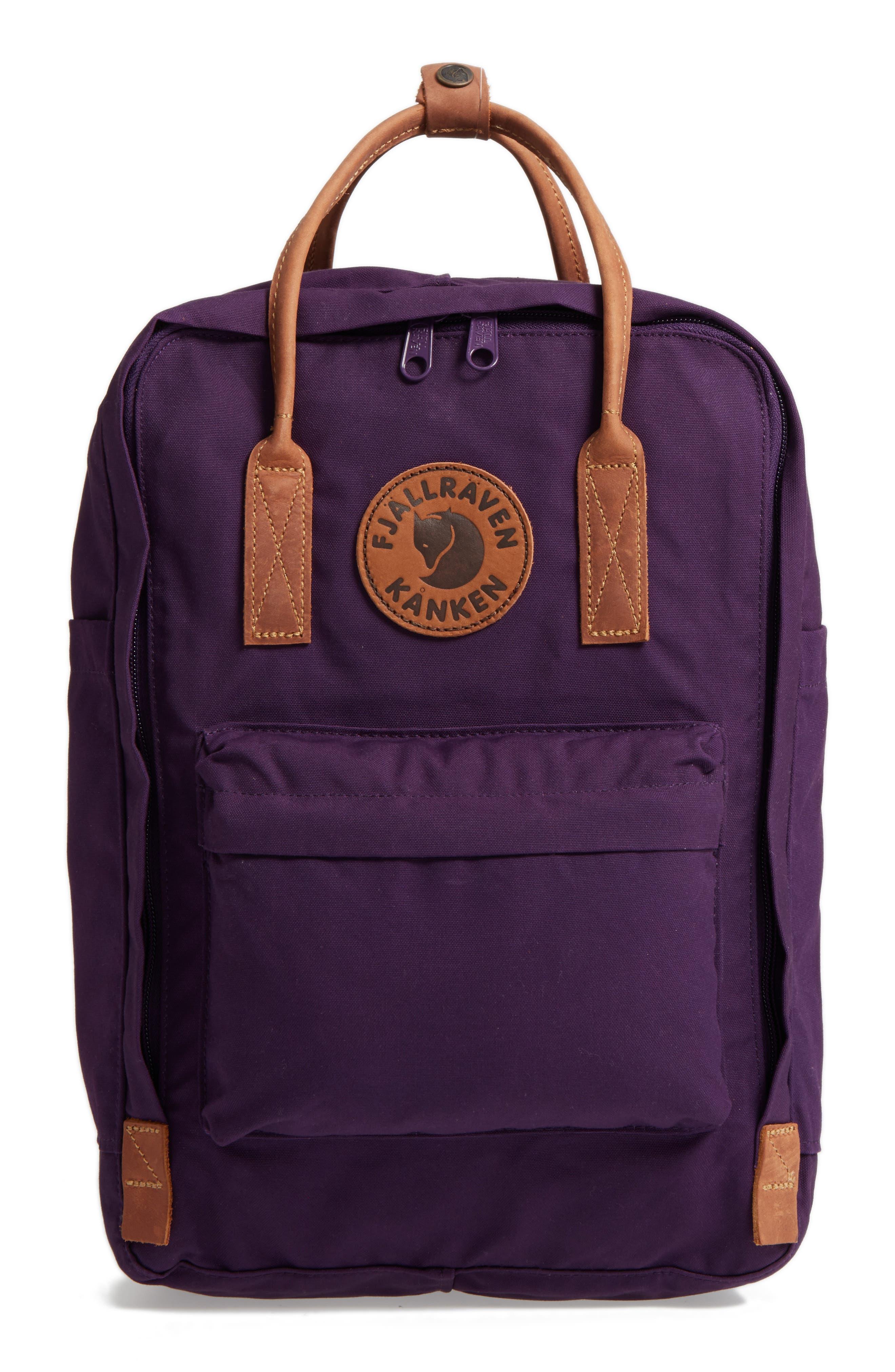 """Kånken No. 2 15"""" Laptop Backpack,                             Main thumbnail 1, color,                             Alpine Purple"""