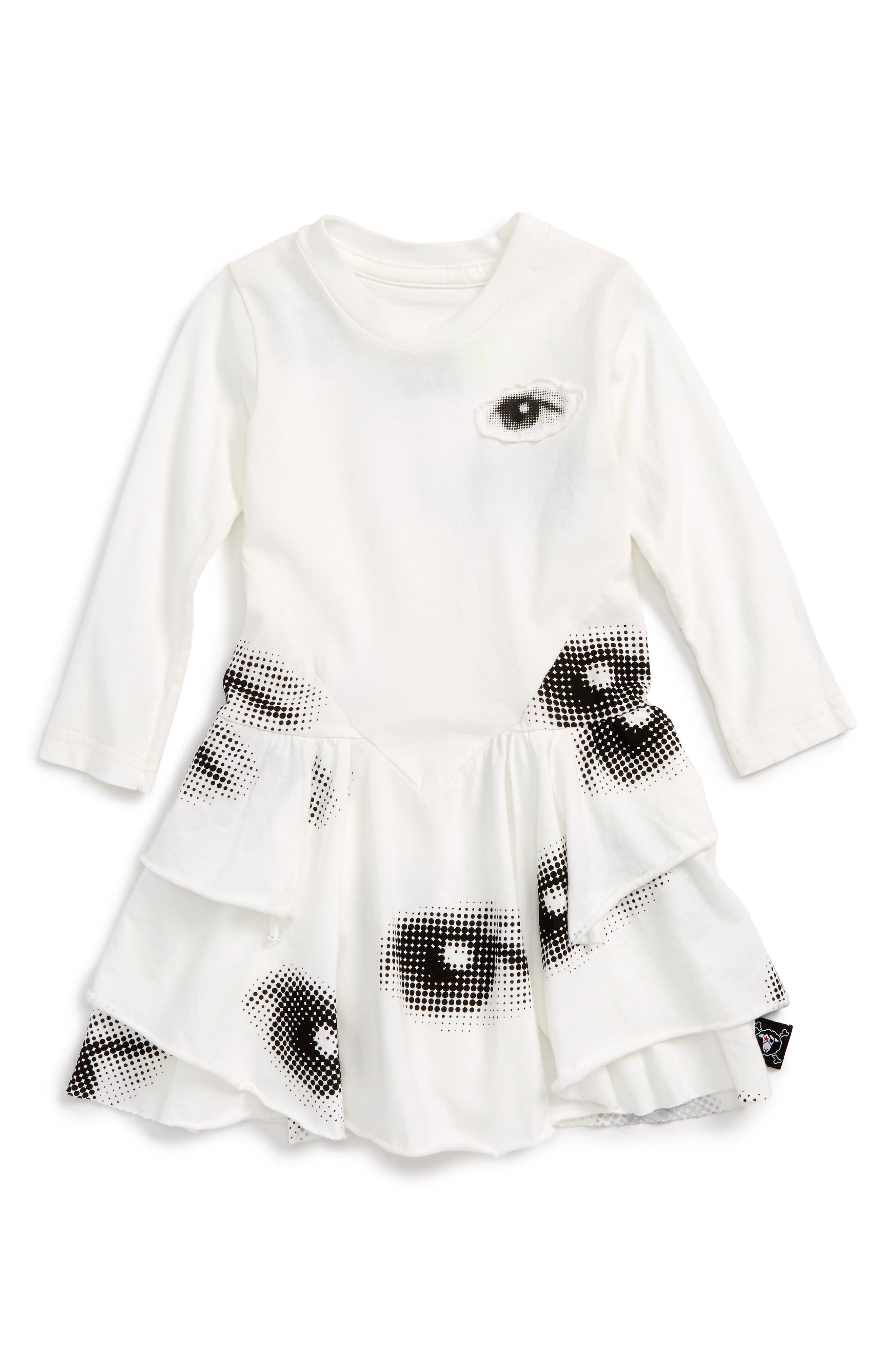 Main Image - NUNUNU Layered Eye Dress (Baby Girls)