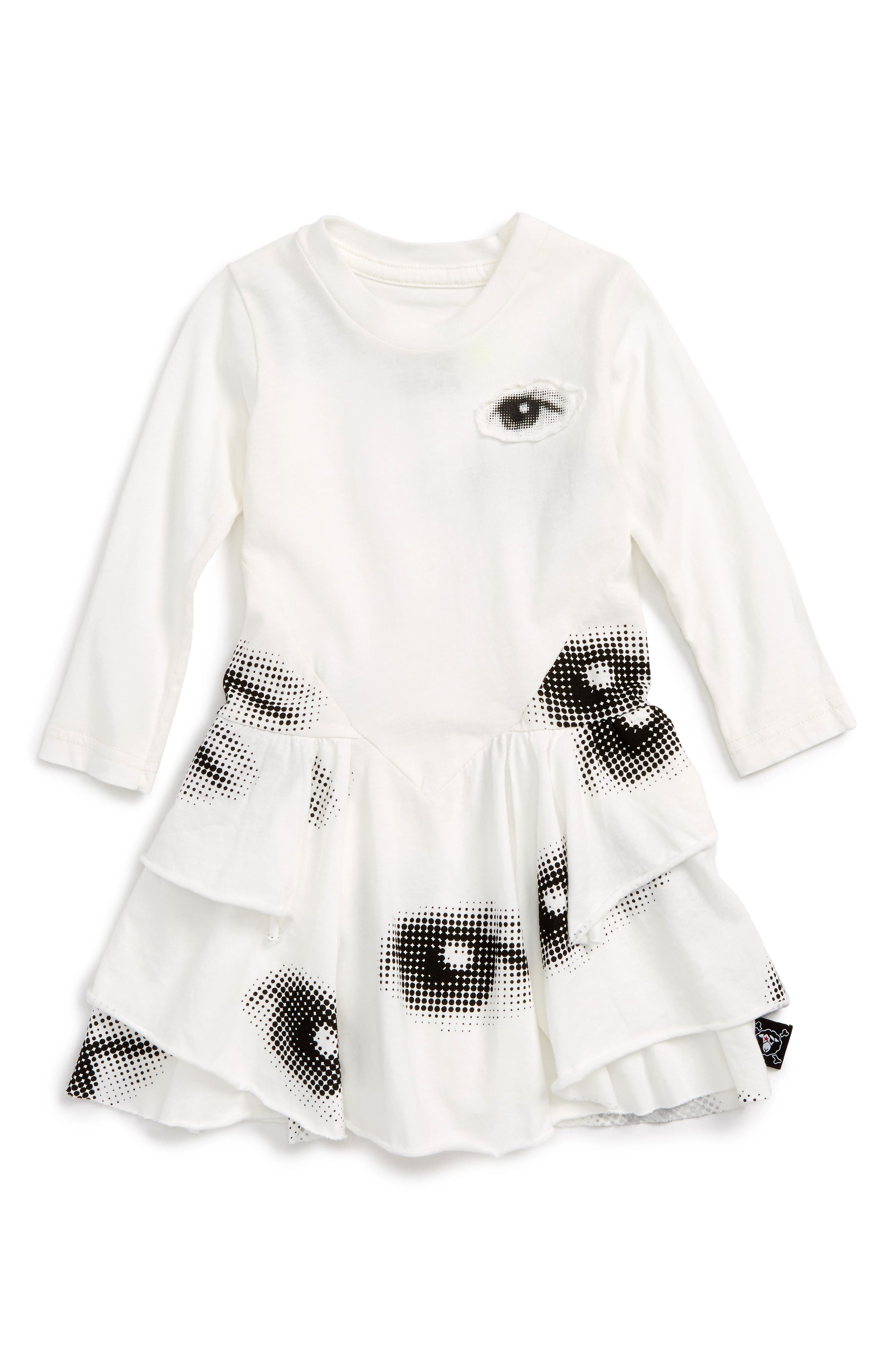 Layered Eye Dress,                         Main,                         color, White