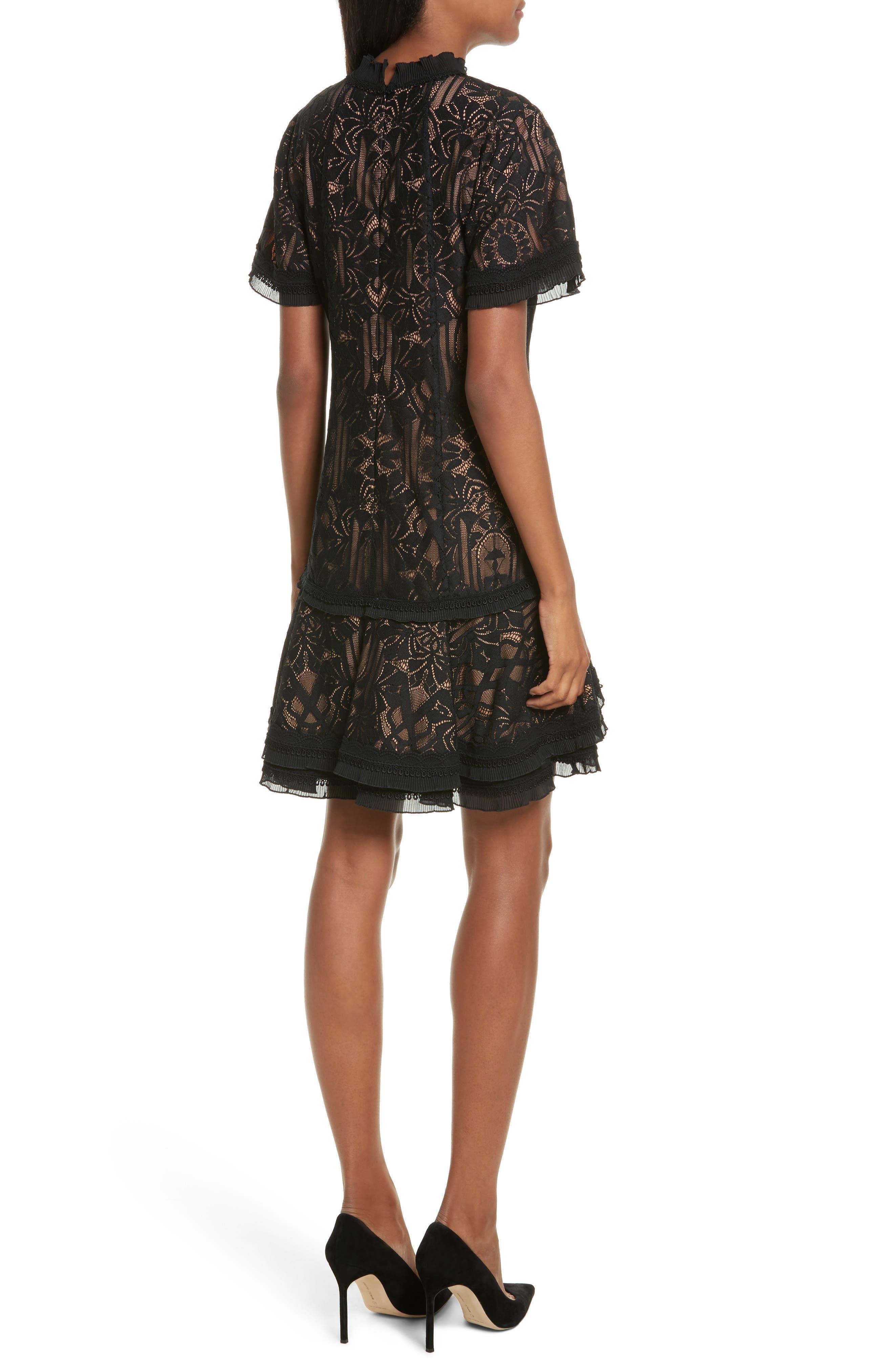 Alternate Image 2  - Jonathan Simkhai Tower Mesh Lace Ruffle Minidress