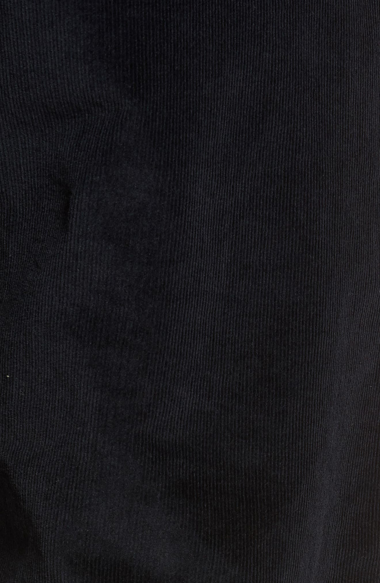 Naked & Famous Slim Chino Slim Fit Corduroy Pants,                             Alternate thumbnail 5, color,                             Black