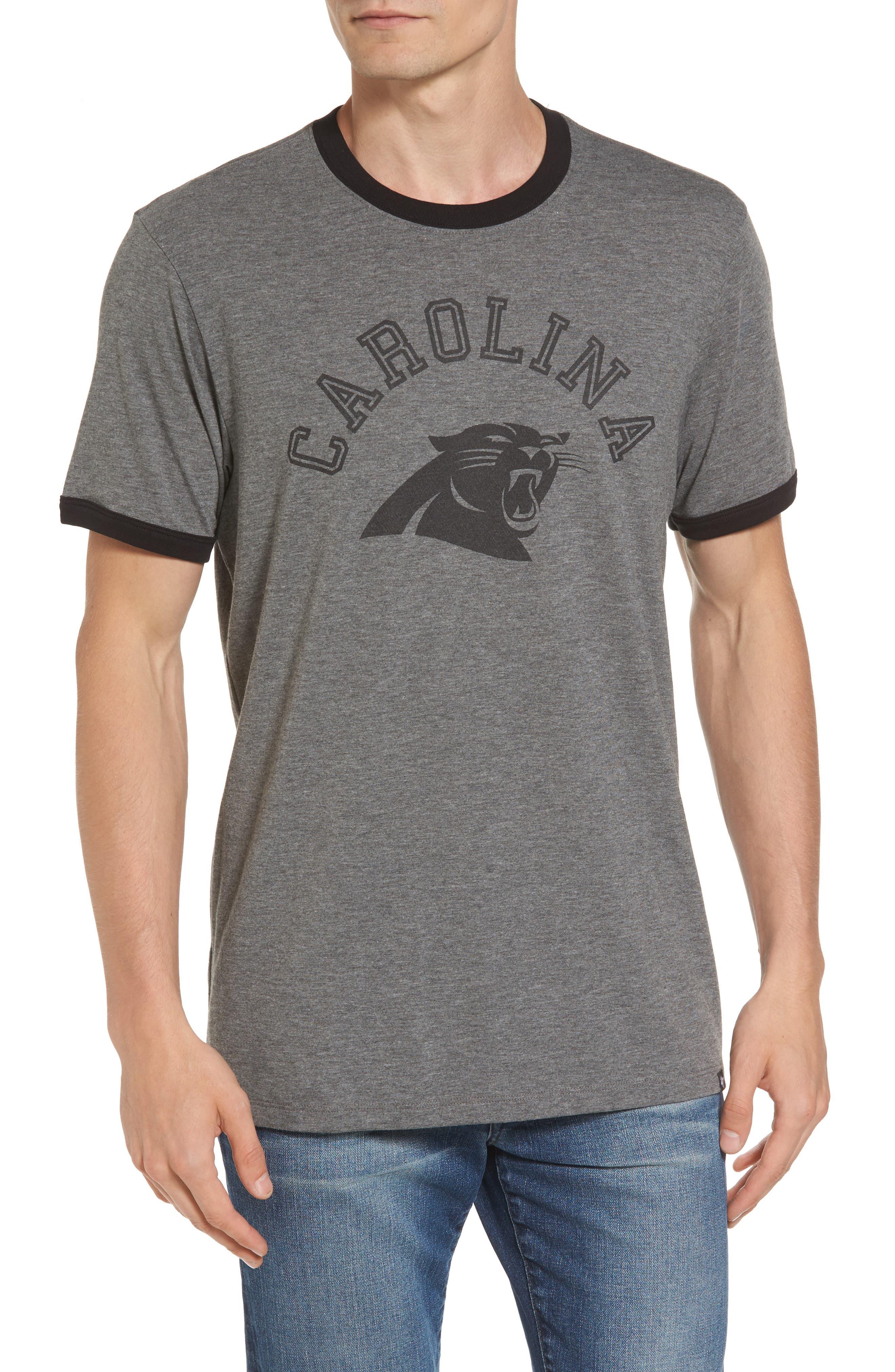 Carolina Panthers Ringer T-Shirt,                         Main,                         color, Grey