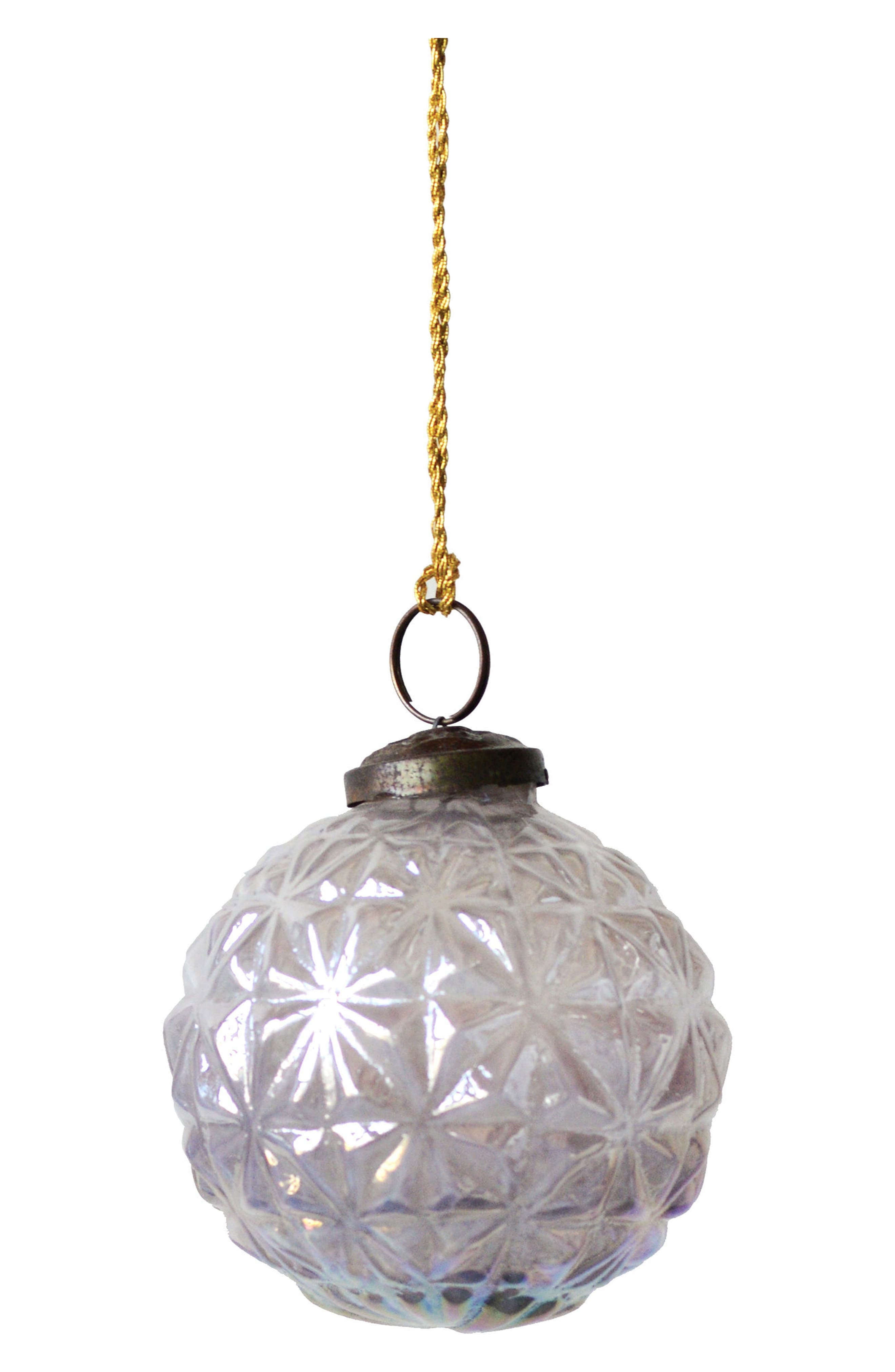 Creative Co-Op Frosted Glass Ball Ornament