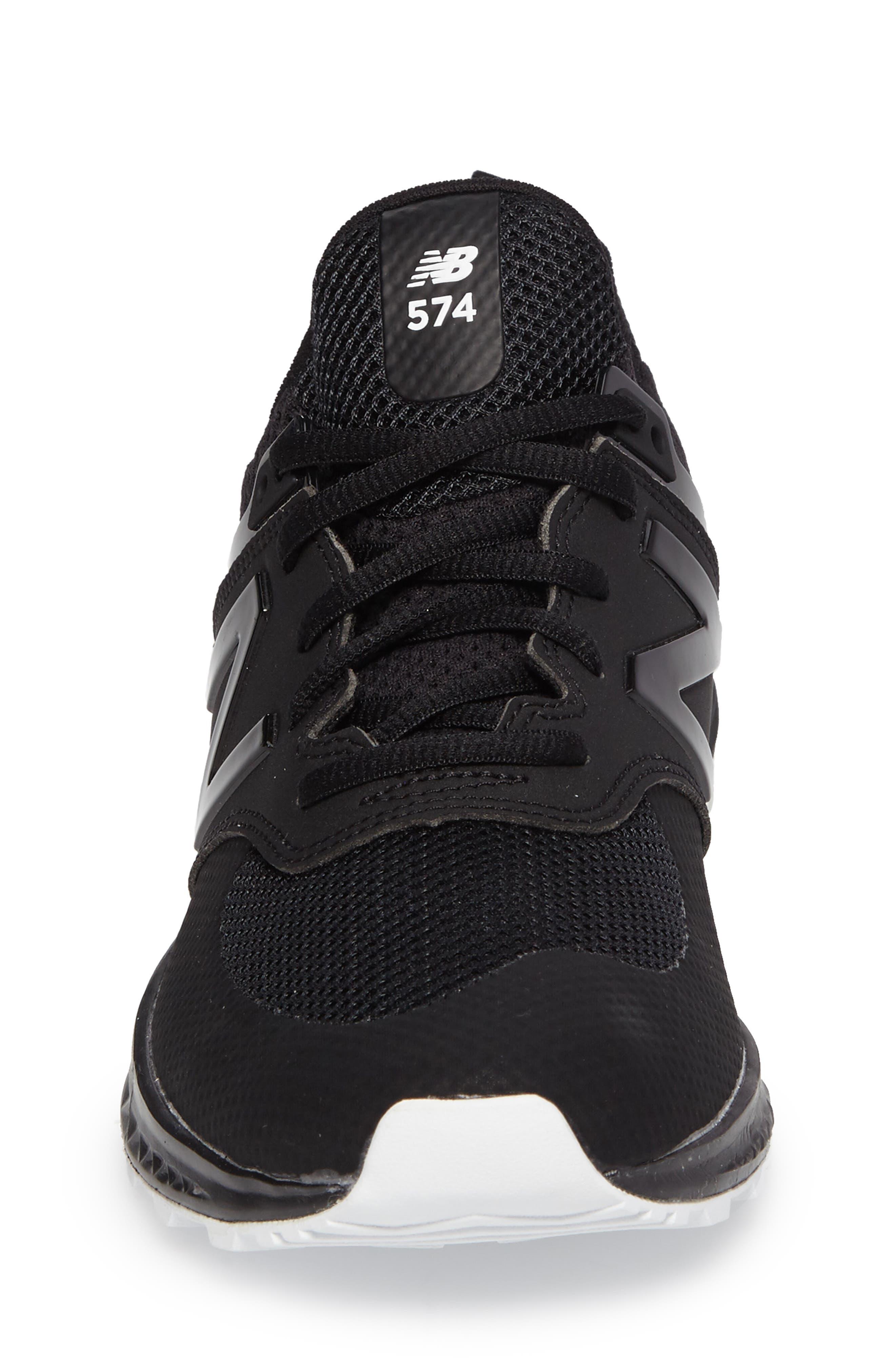 574 Sport Sneaker,                             Alternate thumbnail 4, color,                             Black