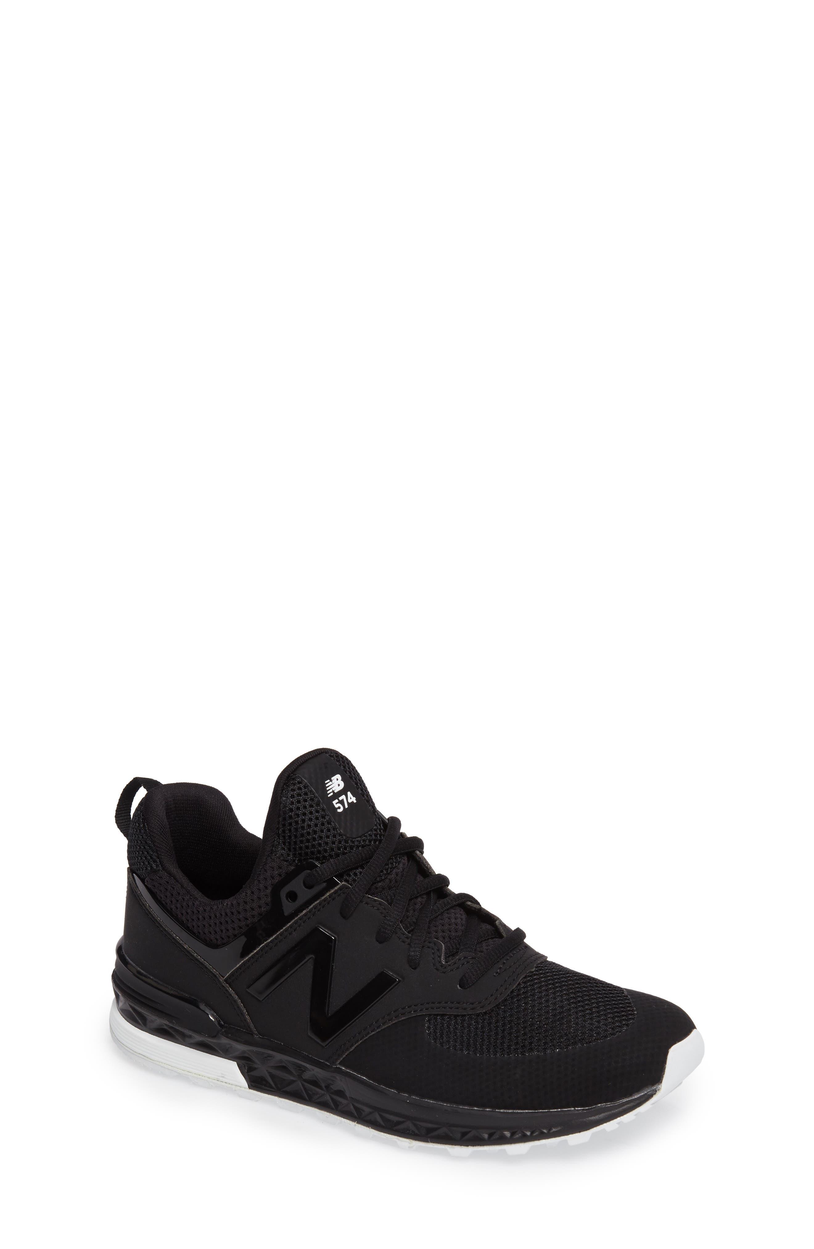 574 Sport Sneaker,                             Main thumbnail 1, color,                             Black