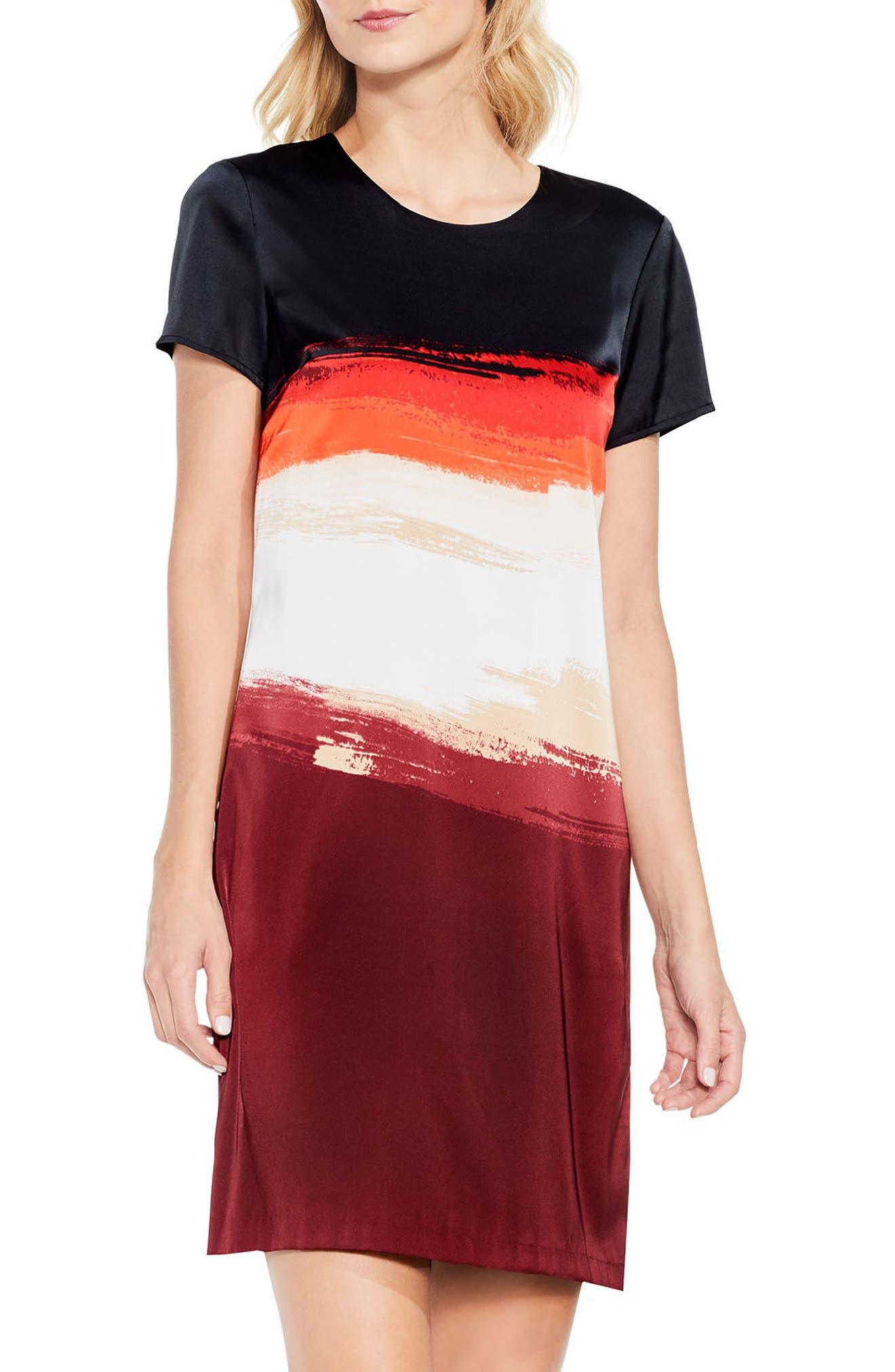 Vince Camuto Brushstroke Horizons Dress (Regular & Petite)