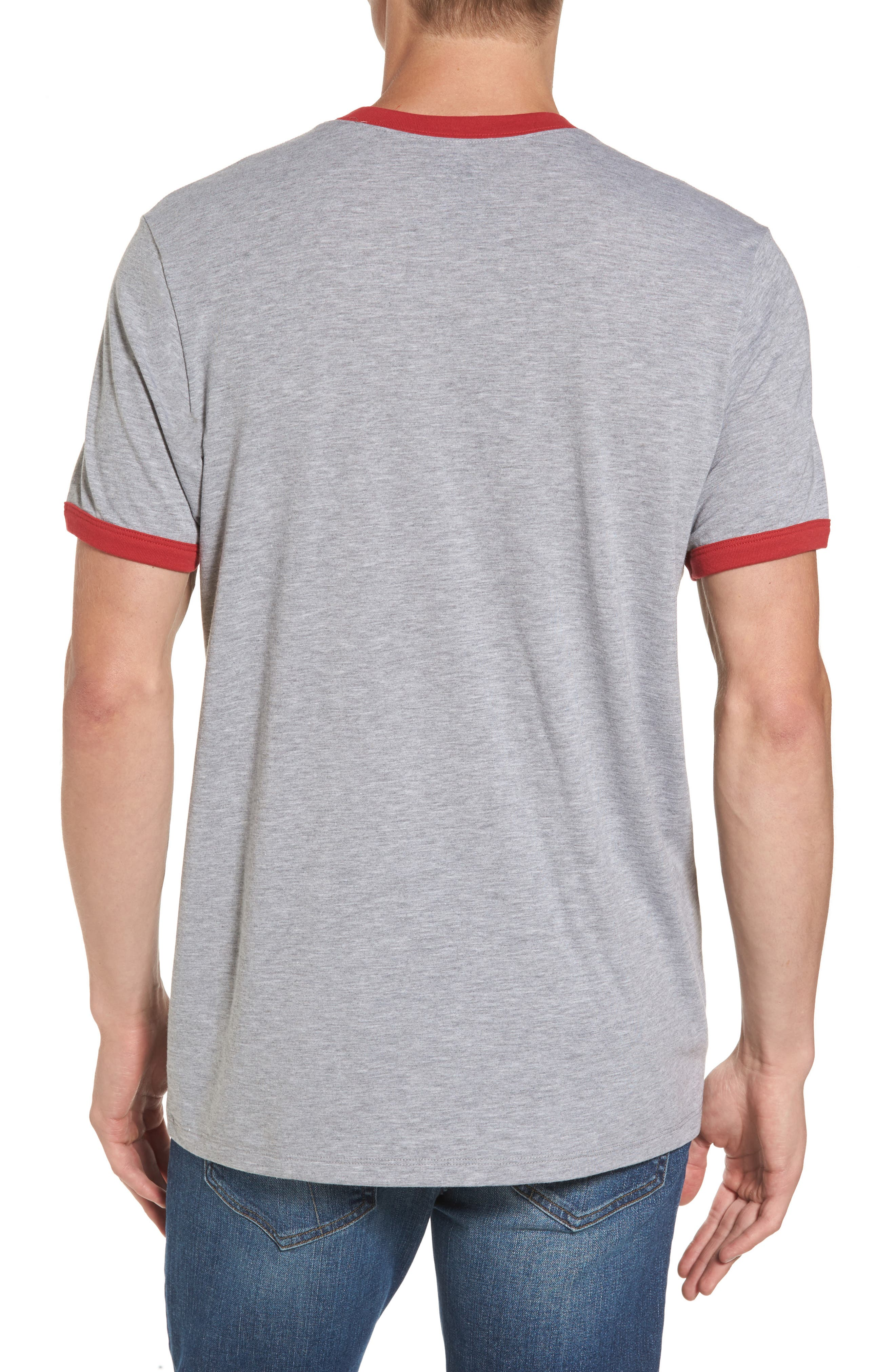 Kansas City Chiefs Ringer T-Shirt,                             Alternate thumbnail 2, color,                             Grey