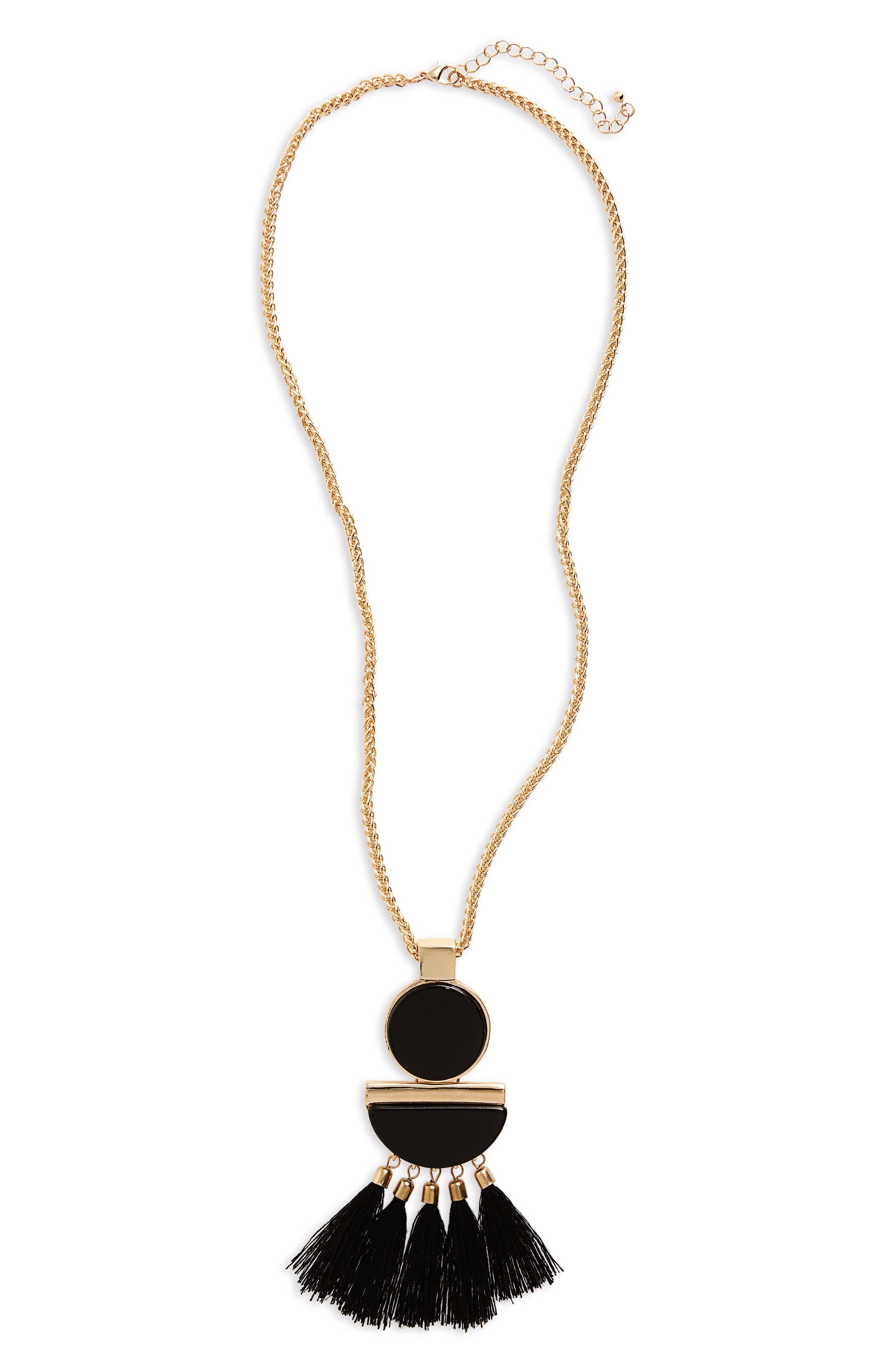 Alternate Image 1 Selected - Cara Tassel Pendant Necklace