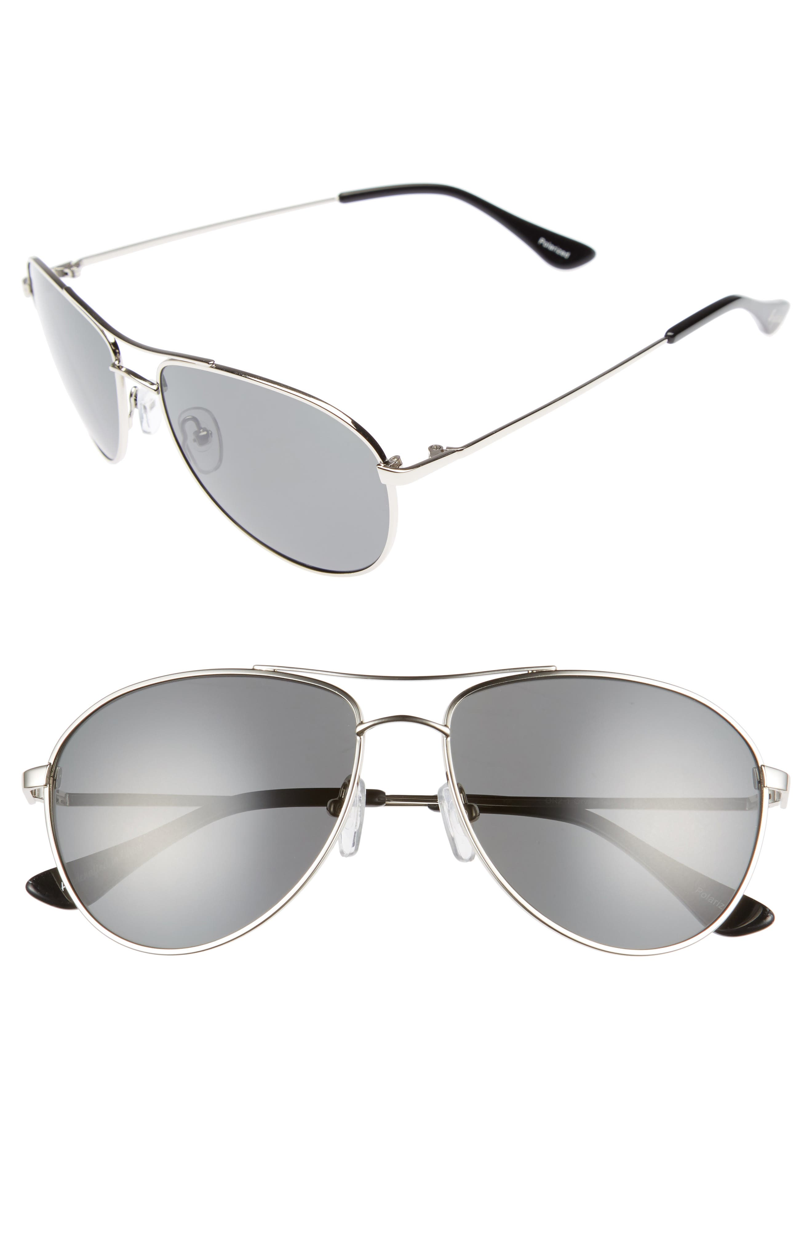 Brightside Orville 58mm Polarized Aviator Sunglasses