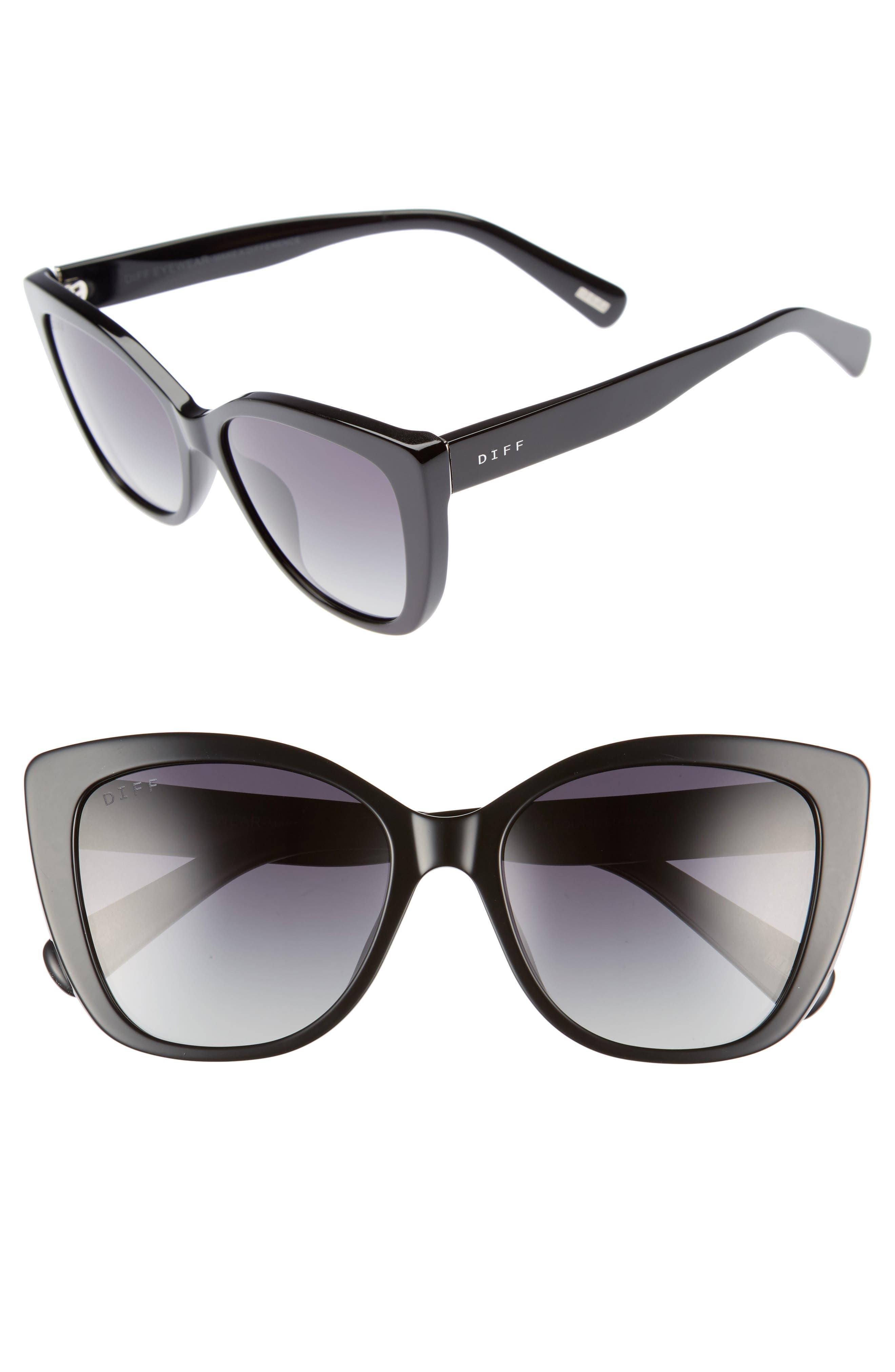 Ruby 54mm Polarized Sunglasses,                         Main,                         color, Black/ Grey