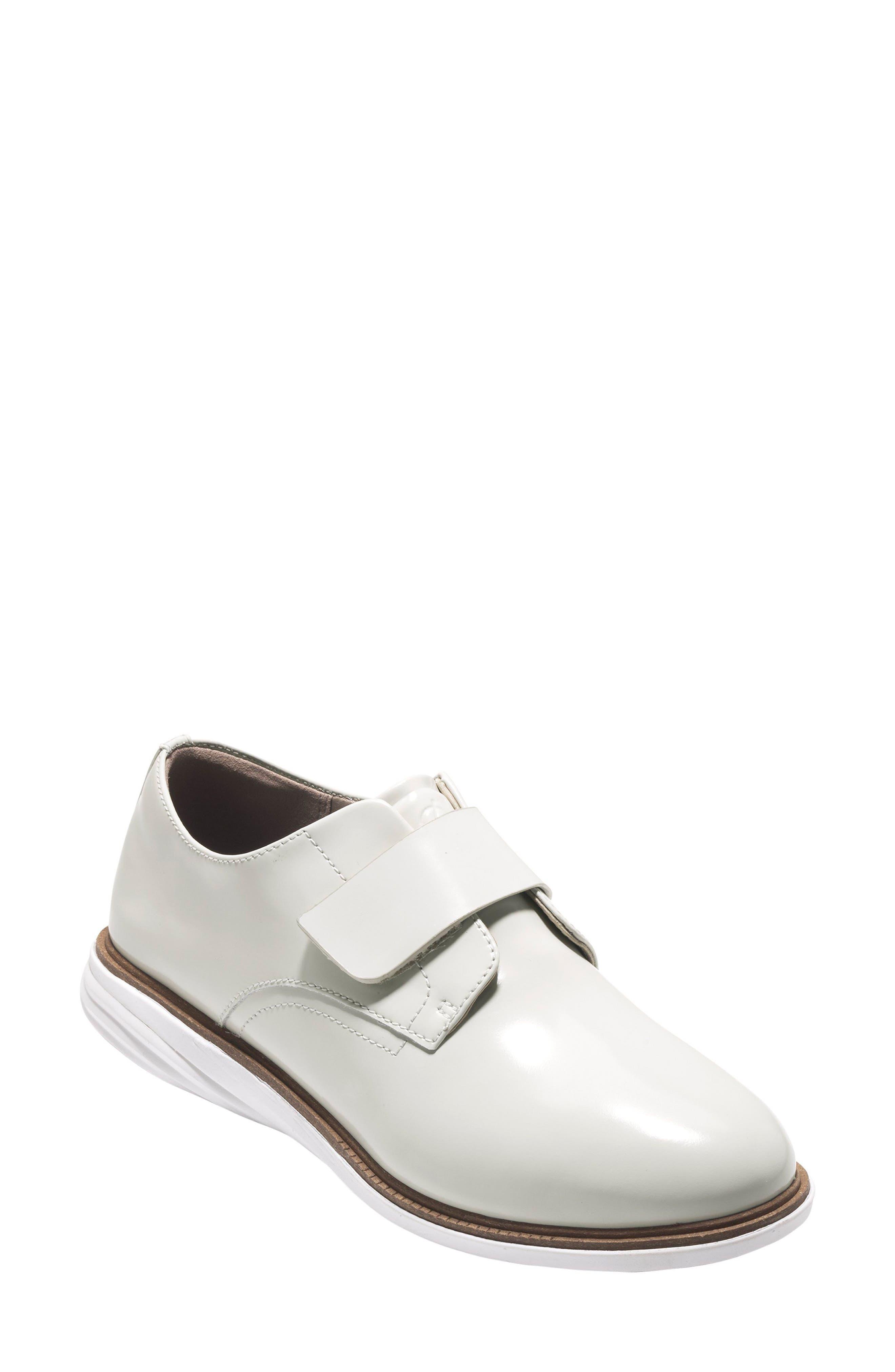 Grandevolution Oxford Sneaker,                             Main thumbnail 1, color,                             Optic White Leather