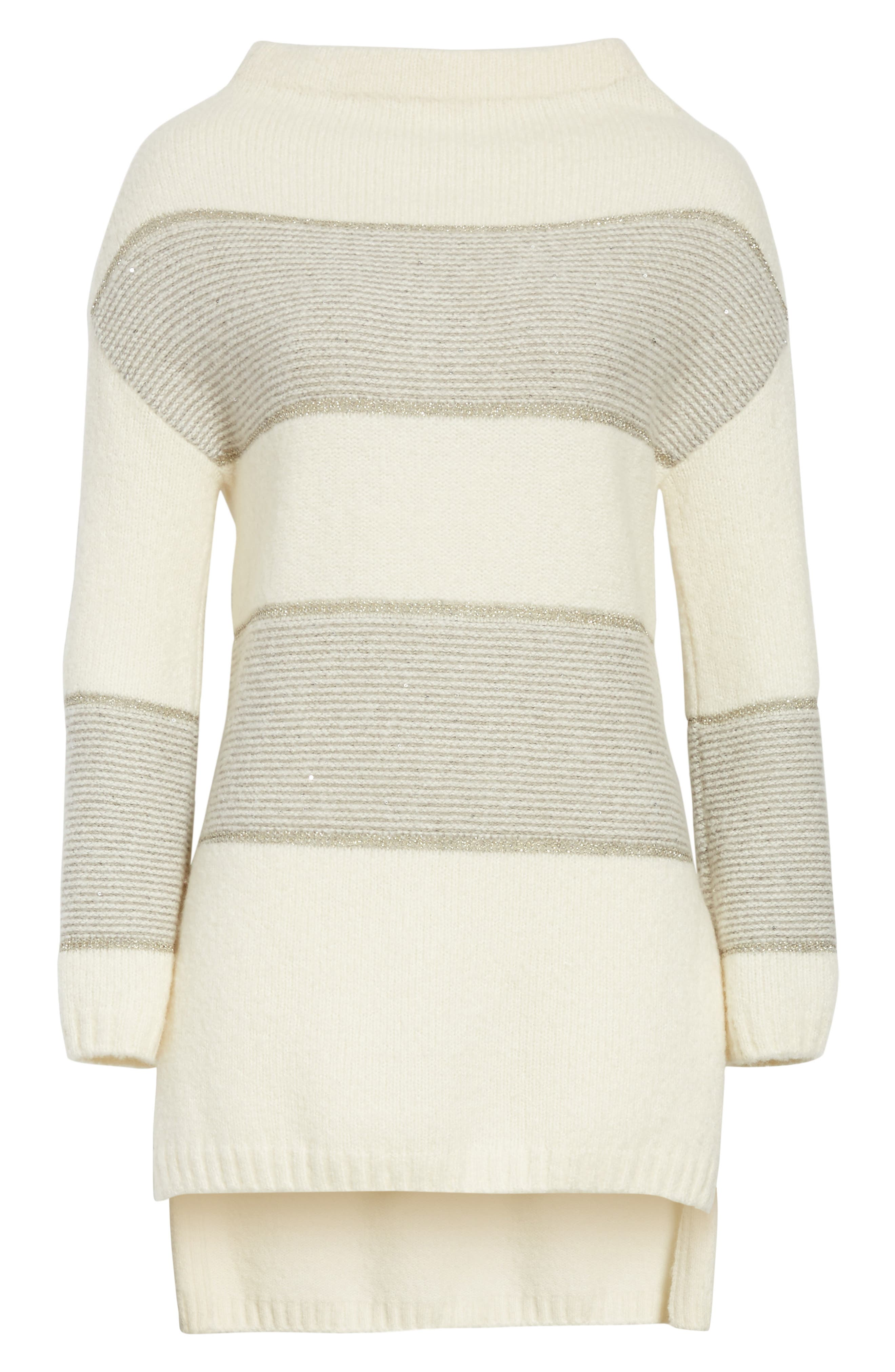 Alternate Image 7  - St. John Collection Links Knit Funnel Neck Sweater