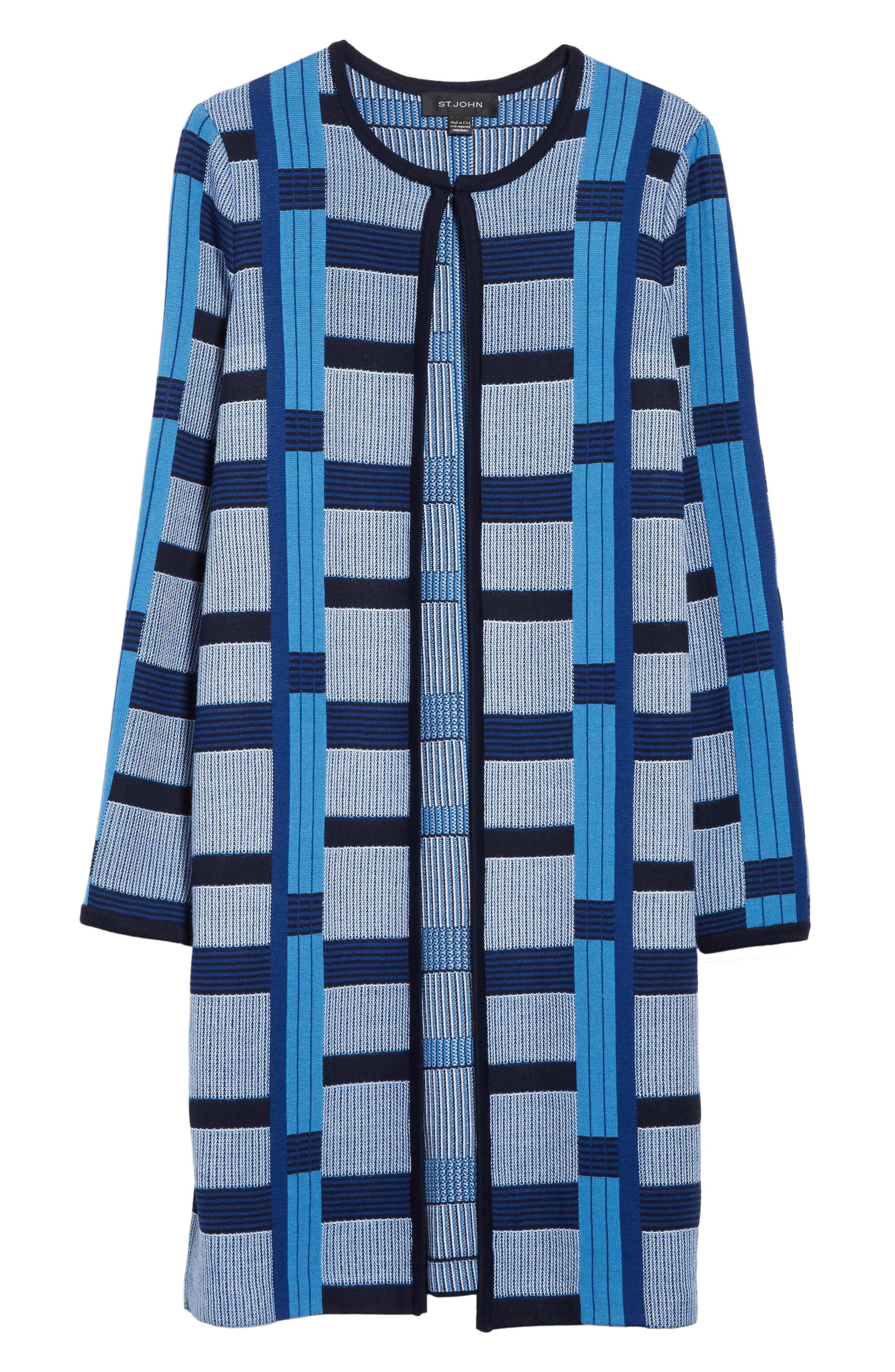 Alternate Image 6  - St. John Collection Colorblock Knit Jacket