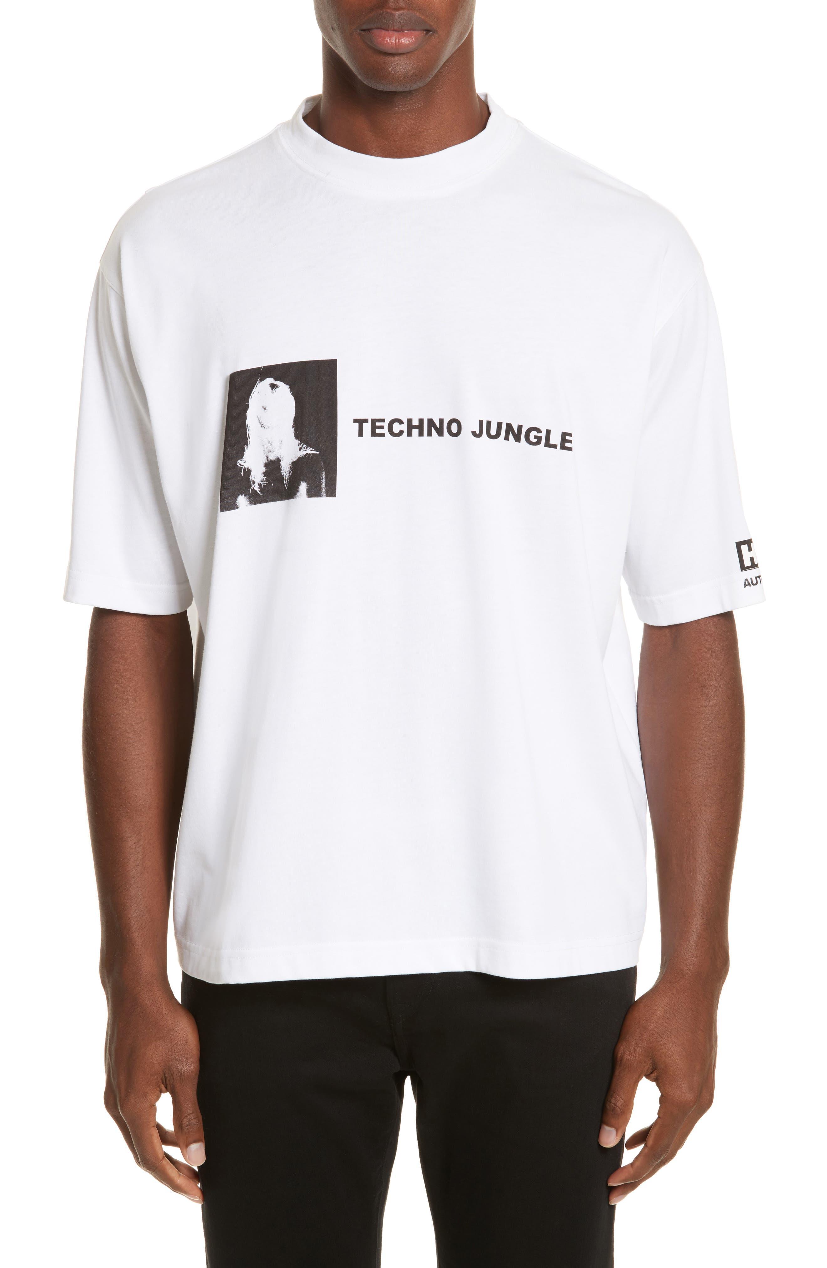 Techno Jungle Graphic T-Shirt,                             Main thumbnail 1, color,                             White