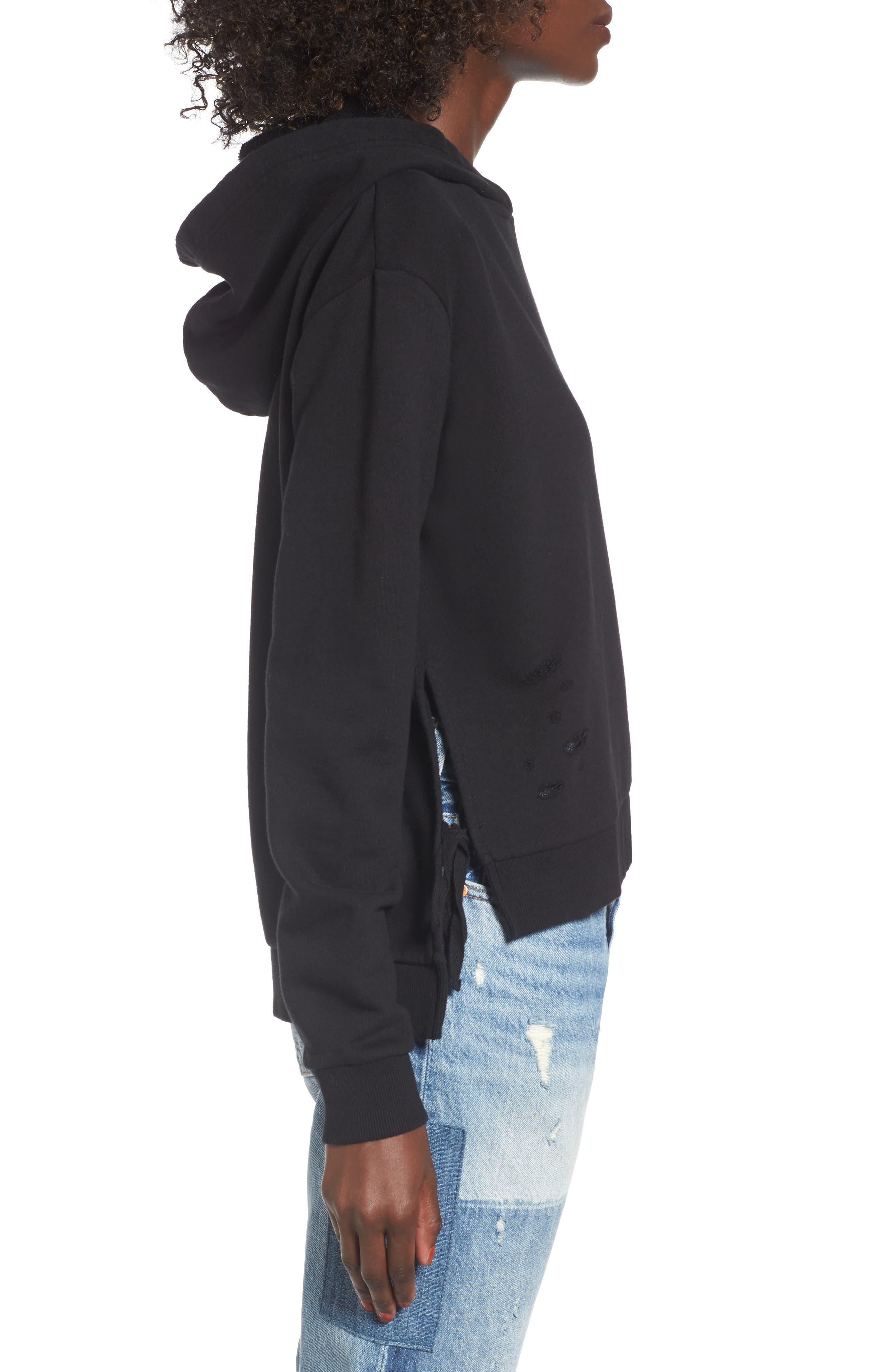 Alternate Image 3  - BP. Distressed Side Tie Hoodie