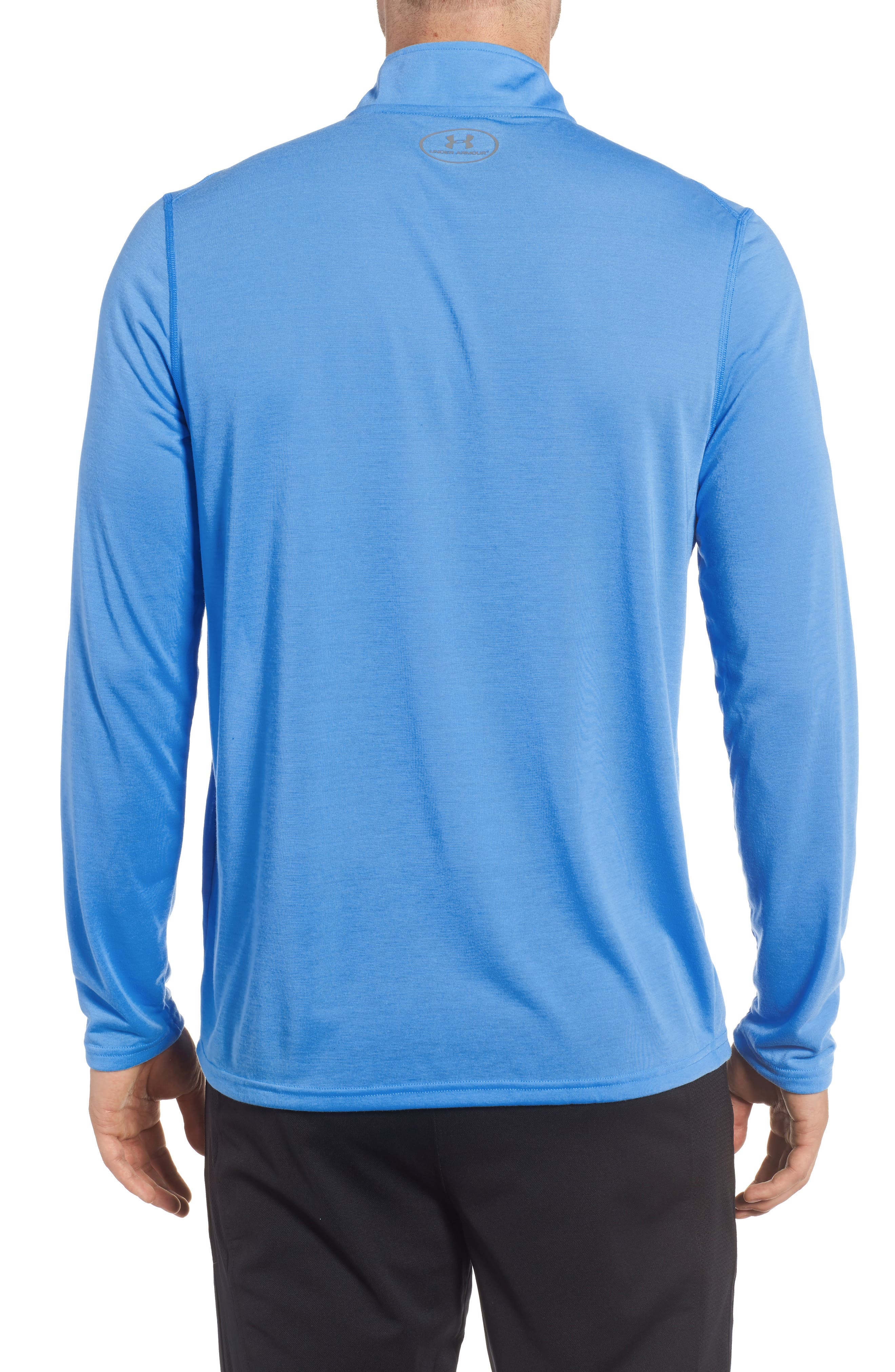 Threadborne Quarter-Zip Performance Shirt,                             Alternate thumbnail 2, color,                             Mako Blue / Graphite