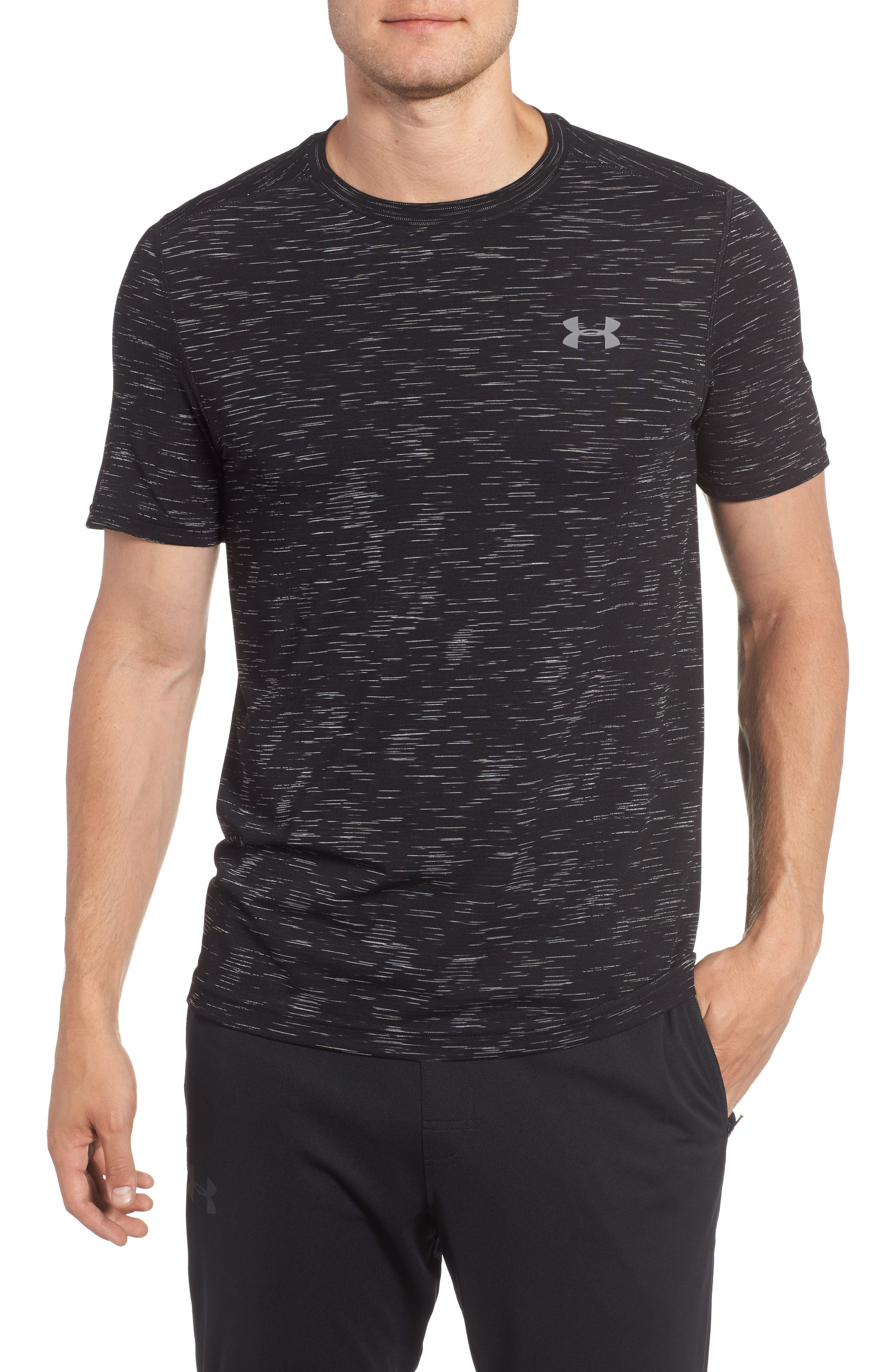 Threadborne Regular Fit T-Shirt,                             Main thumbnail 1, color,                             Black / Graphite