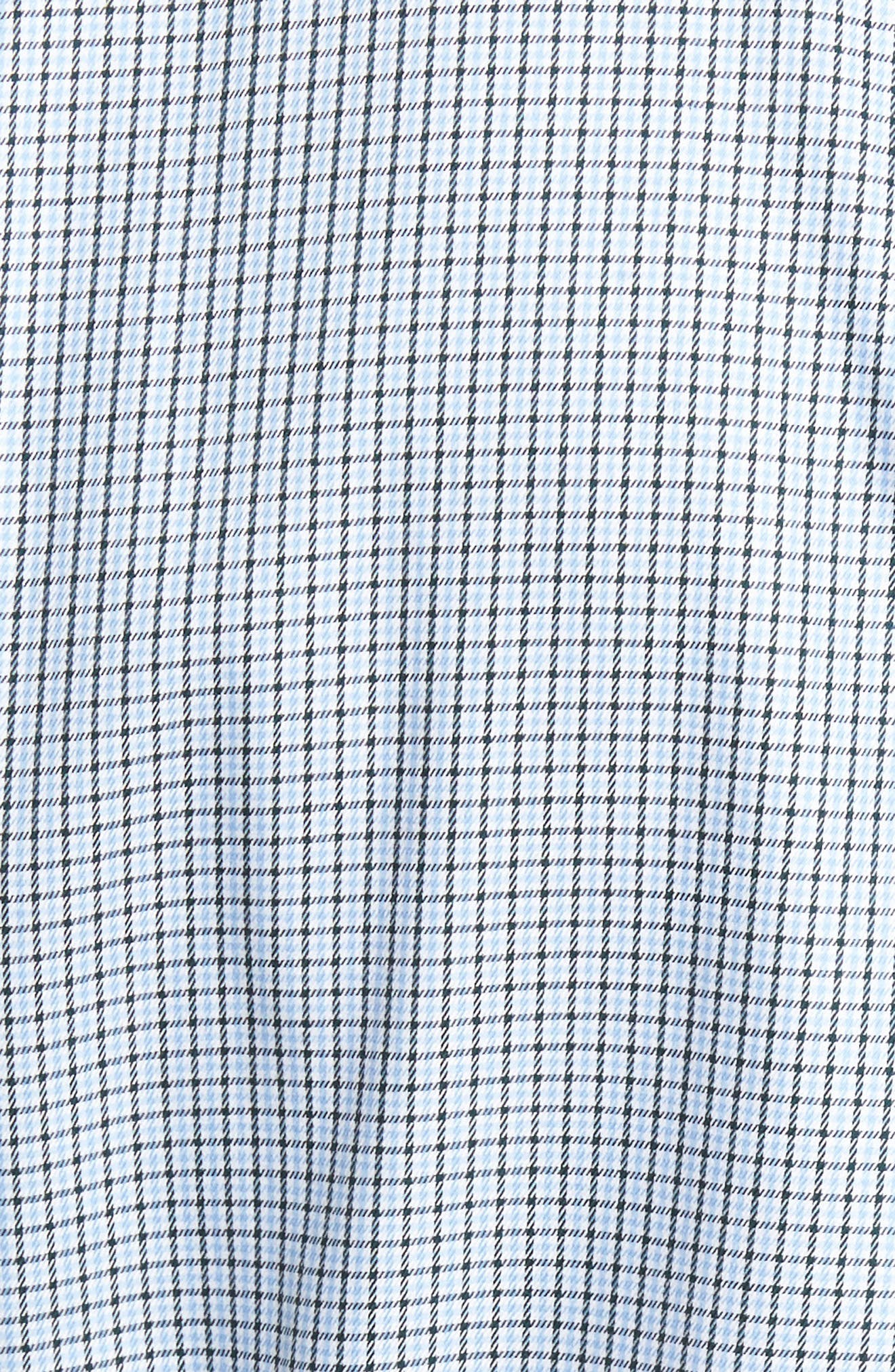 Elevation Regular Fit Check Sport Shirt,                             Alternate thumbnail 5, color,                             Tahoe Blue