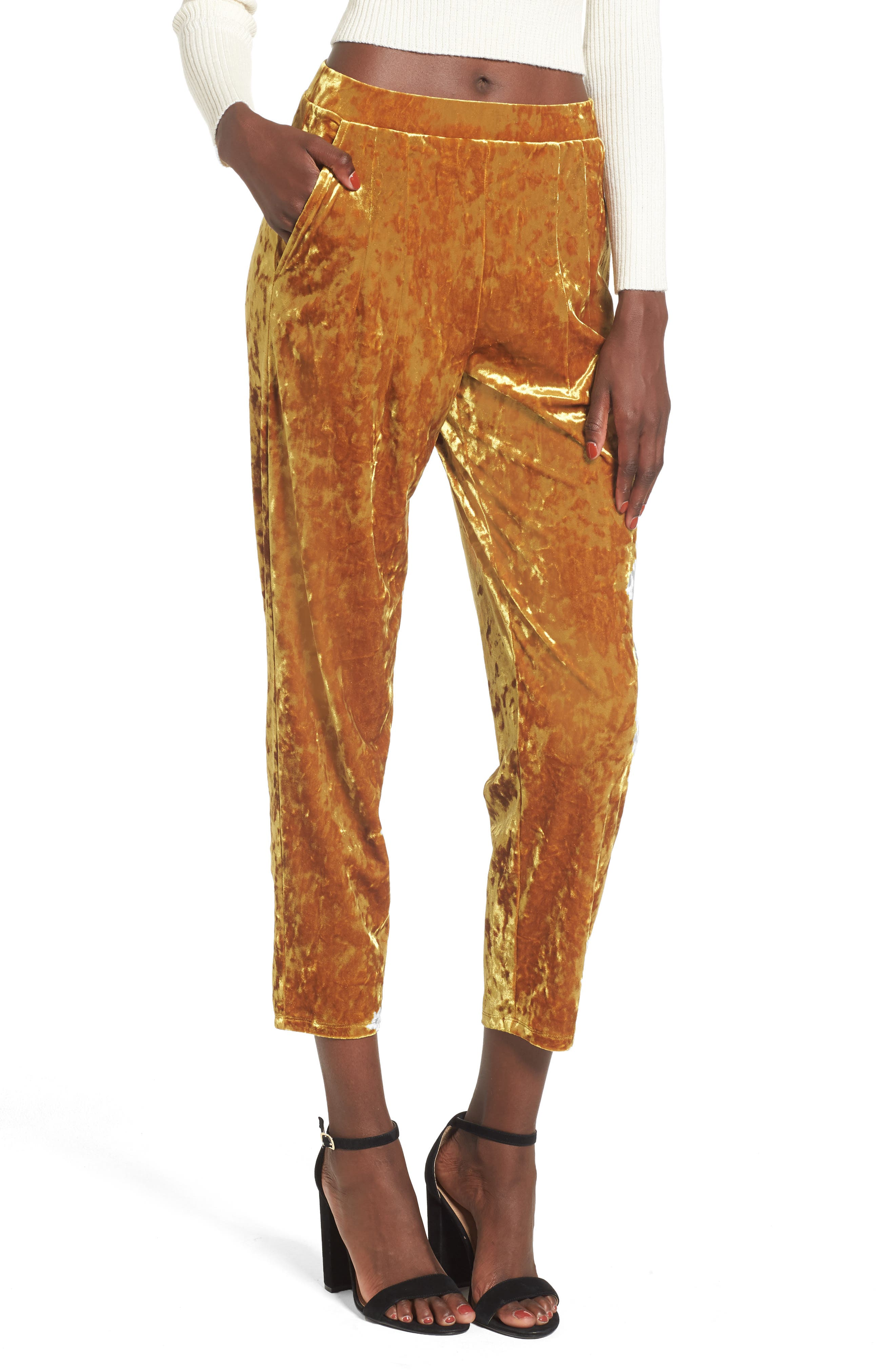 Main Image - Leith Pleat Front Velour Pants