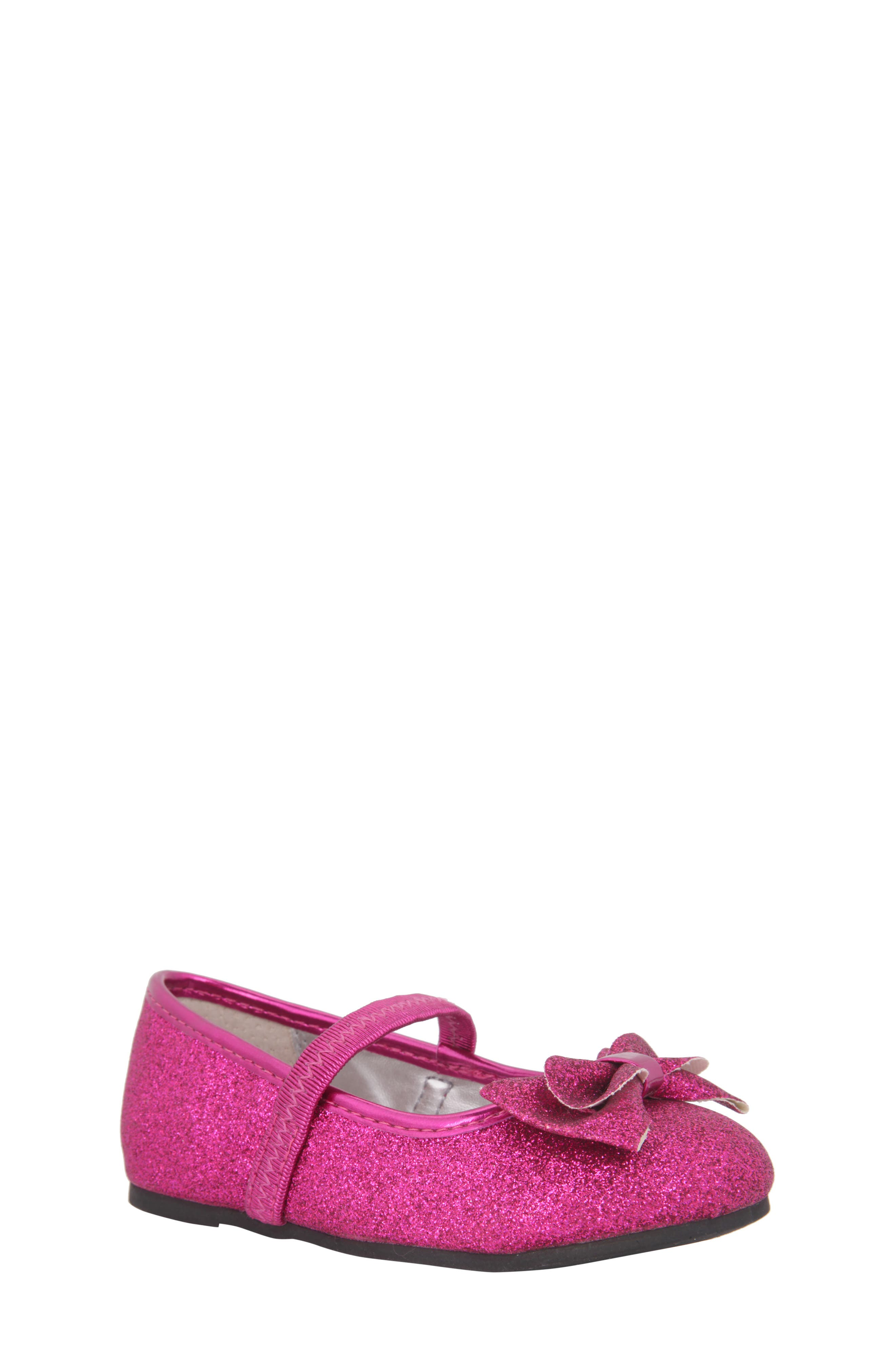 Nina Grace Glittery Mary Jane Flat (Walker & Toddler)