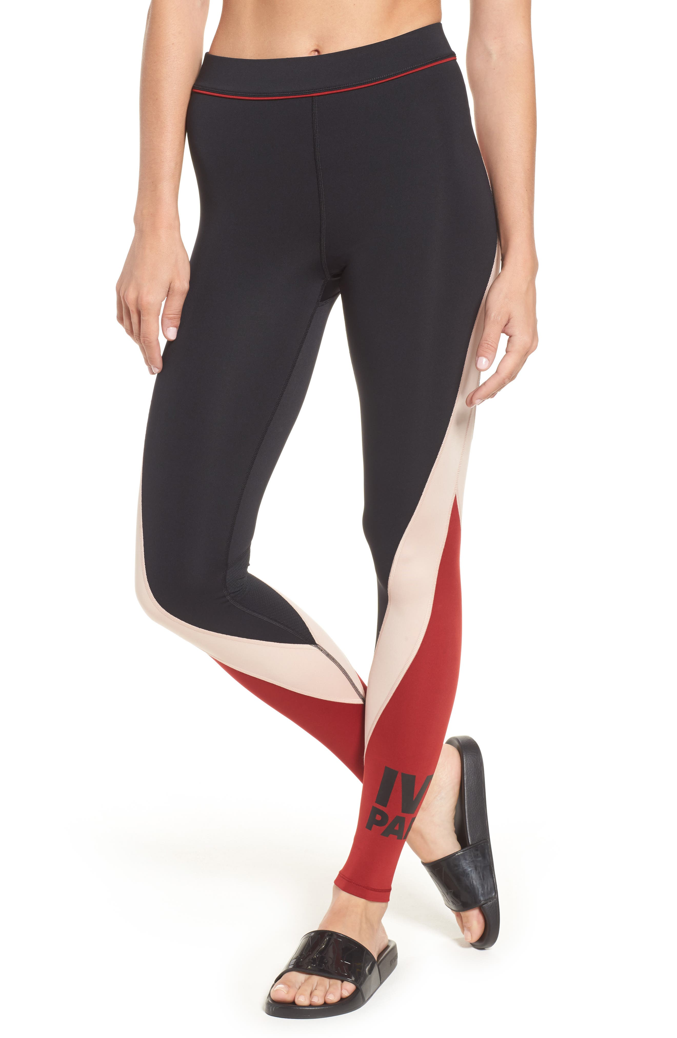 Main Image - IVY PARK® Colorblock Mid Rise Ankle Leggings