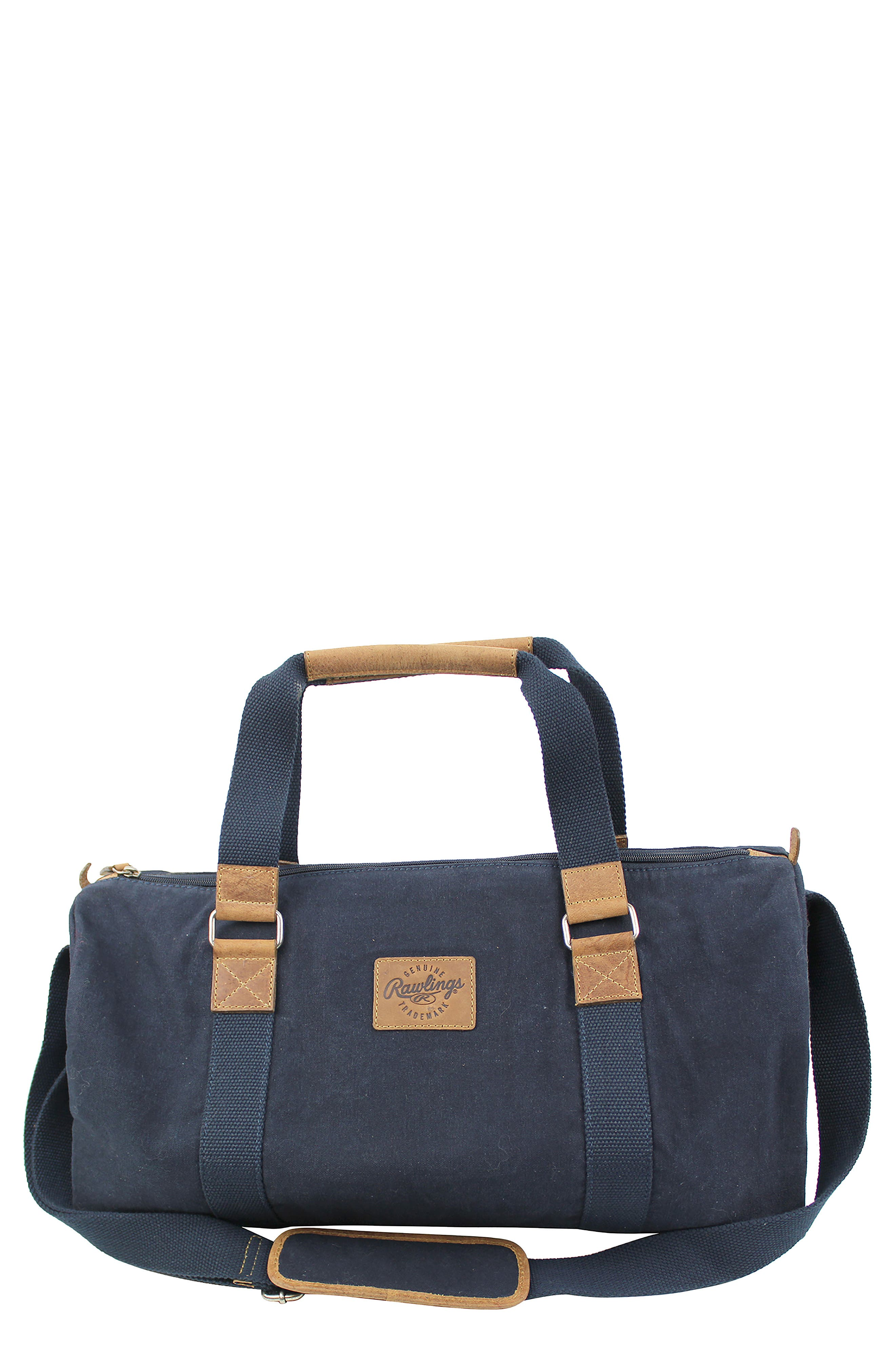 Canvas Duffel Bag,                             Main thumbnail 1, color,                             Navy