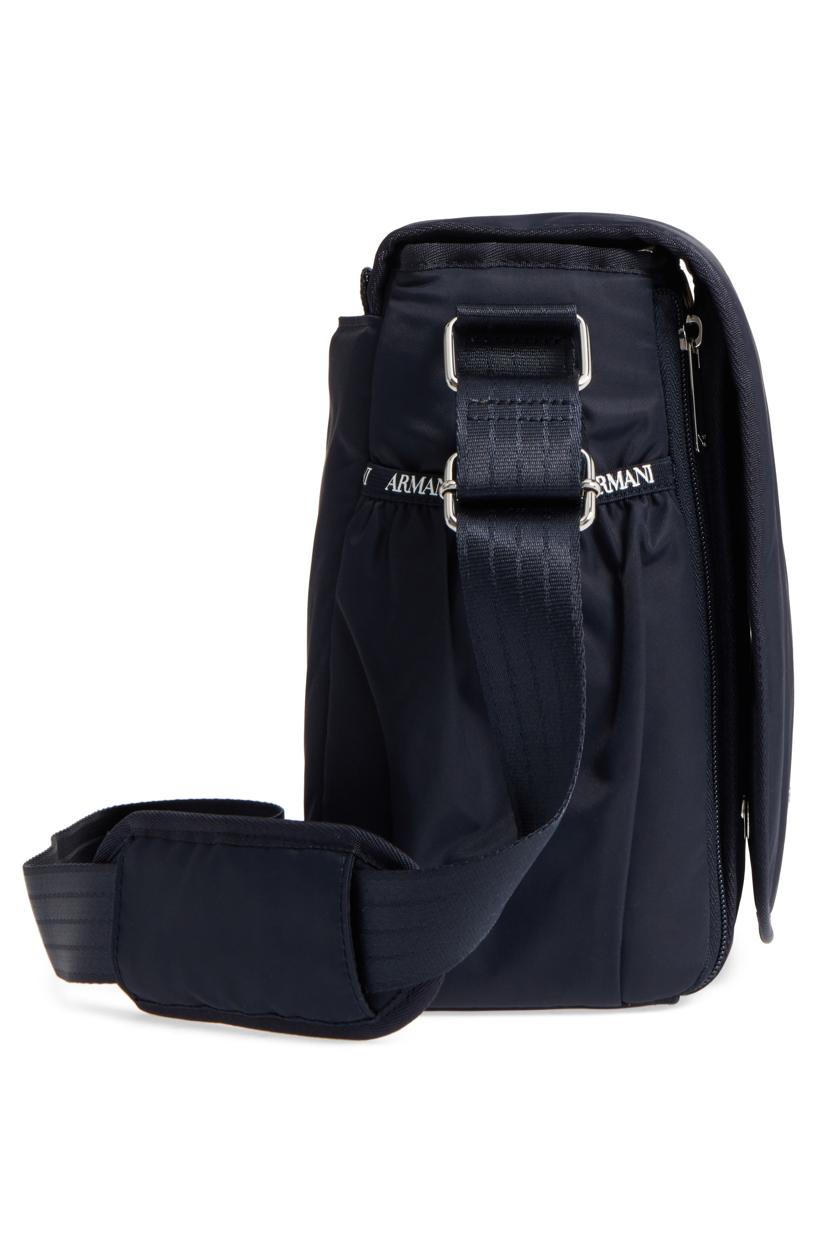 Alternate Image 5  - Armani Junior Nylon Messenger Diaper Bag