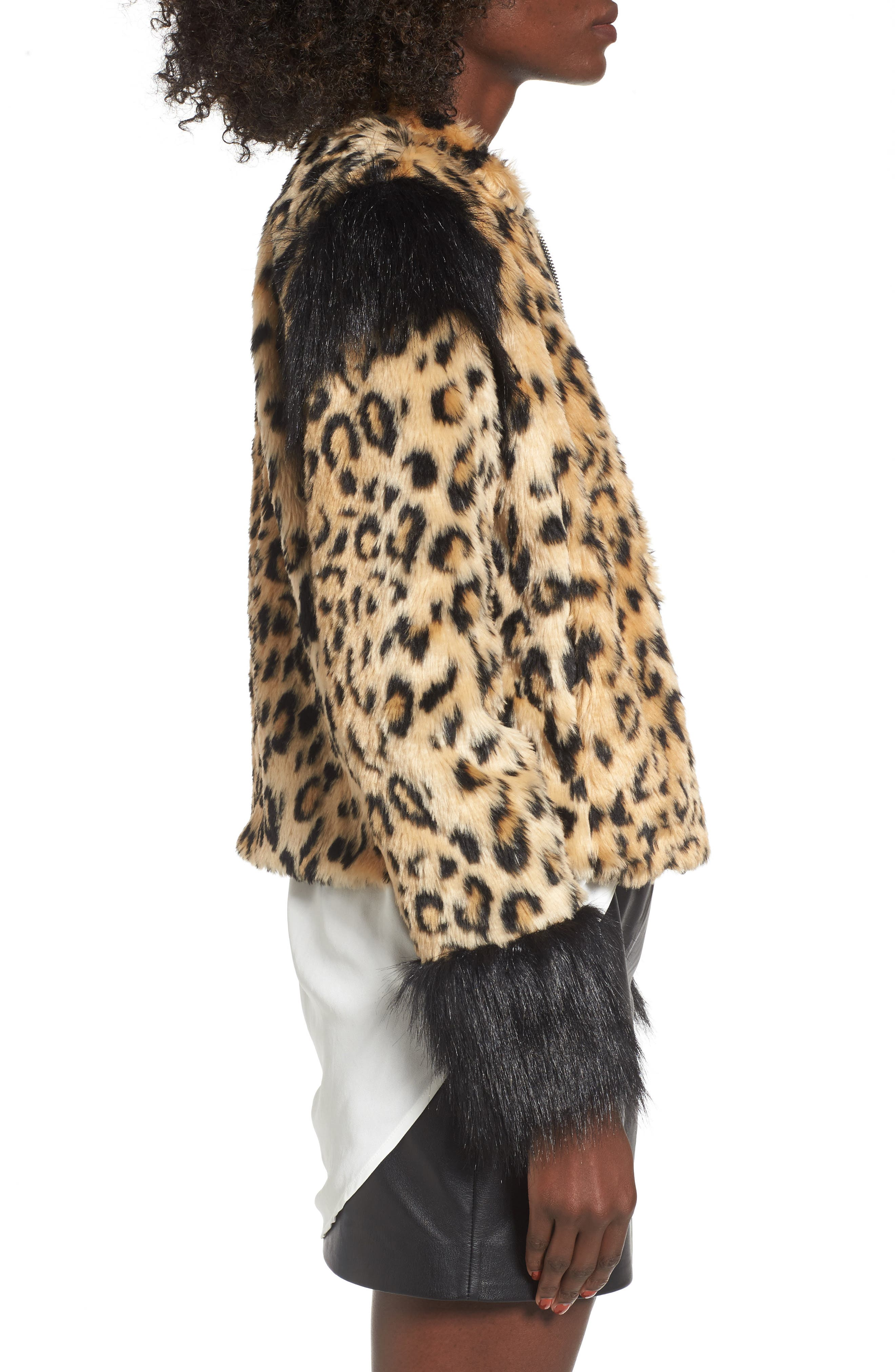 Alternate Image 3  - Leith Mixed Media Faux Fur Jacket