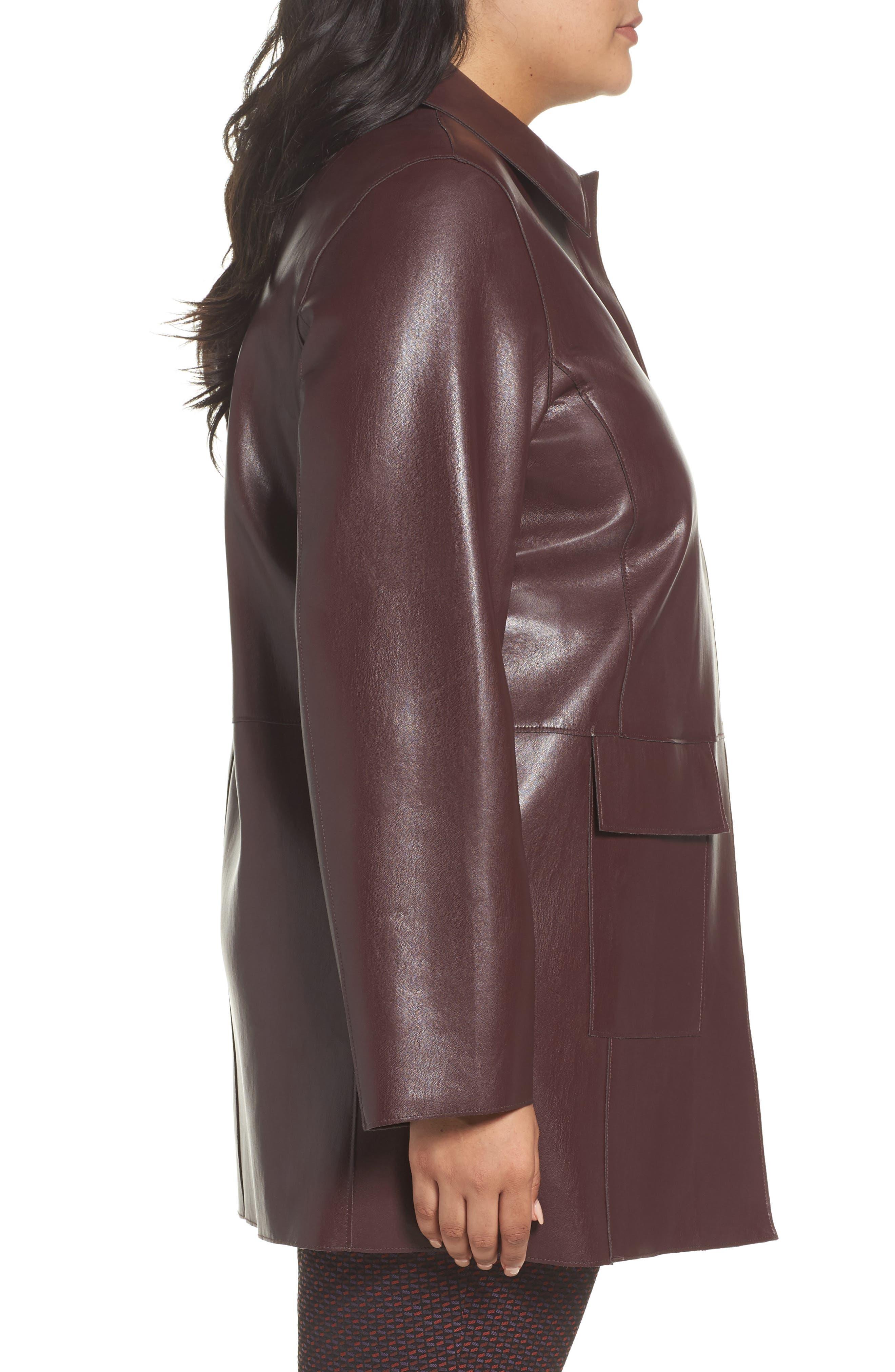 Alternate Image 3  - Persona by Marina Rinaldi Narrare Faux Leather Coat (Plus Size)