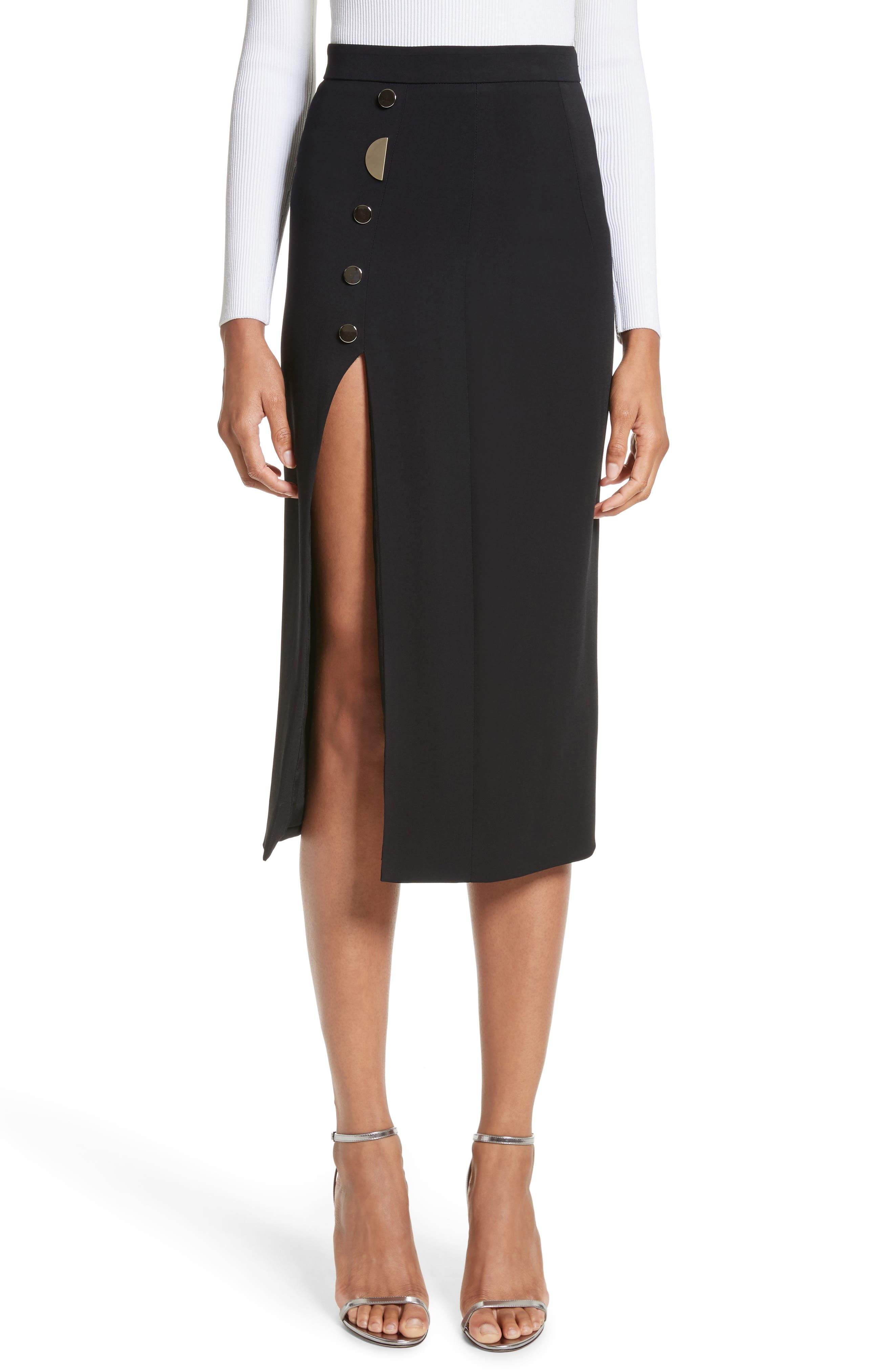 Cushnie et Ochs Dahlia Stretch Crepe Pencil Skirt