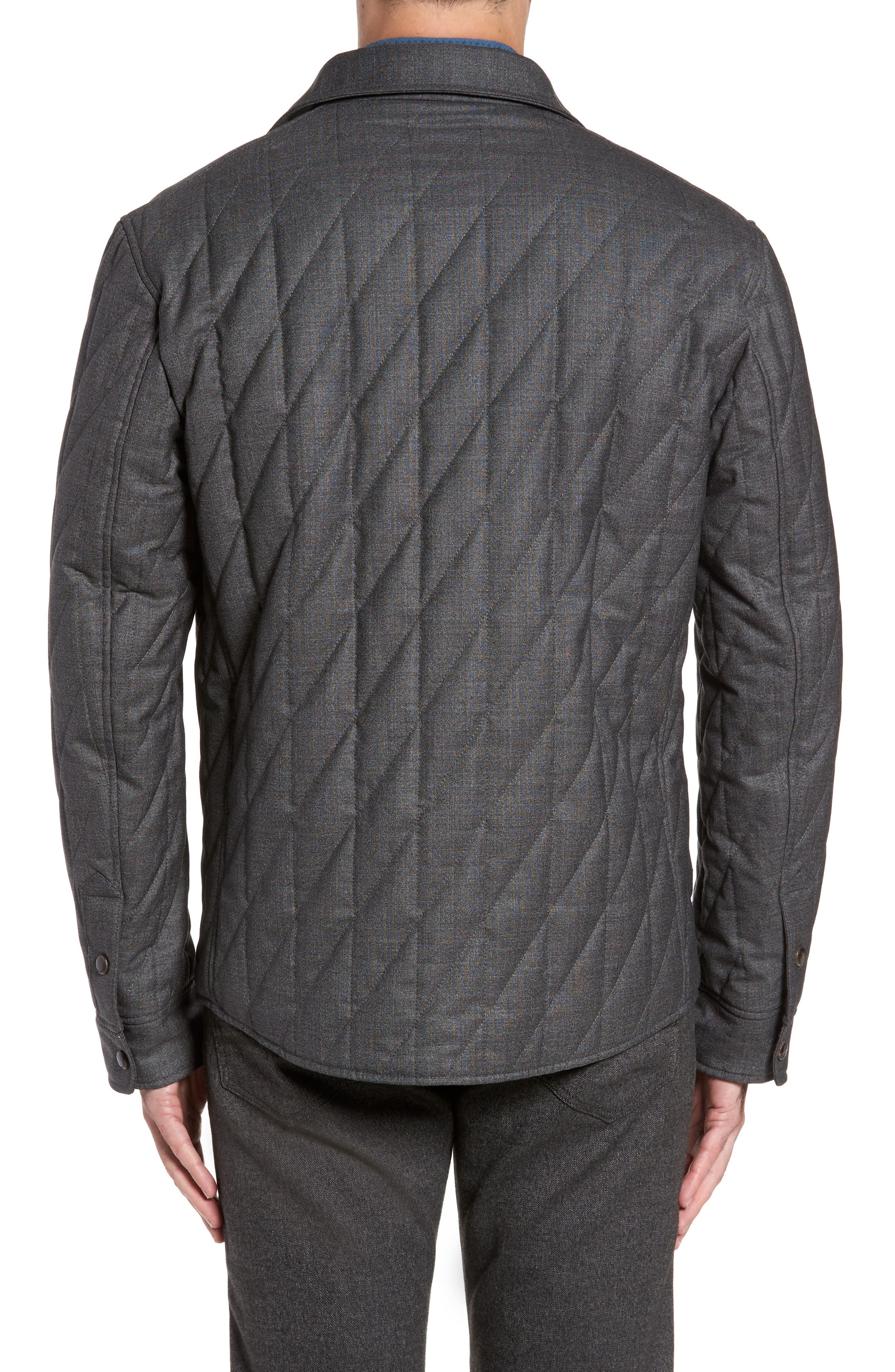 Alternate Image 2  - Luciano Barbera Classic Fit Quilted Wool Blend Shirt Jacket