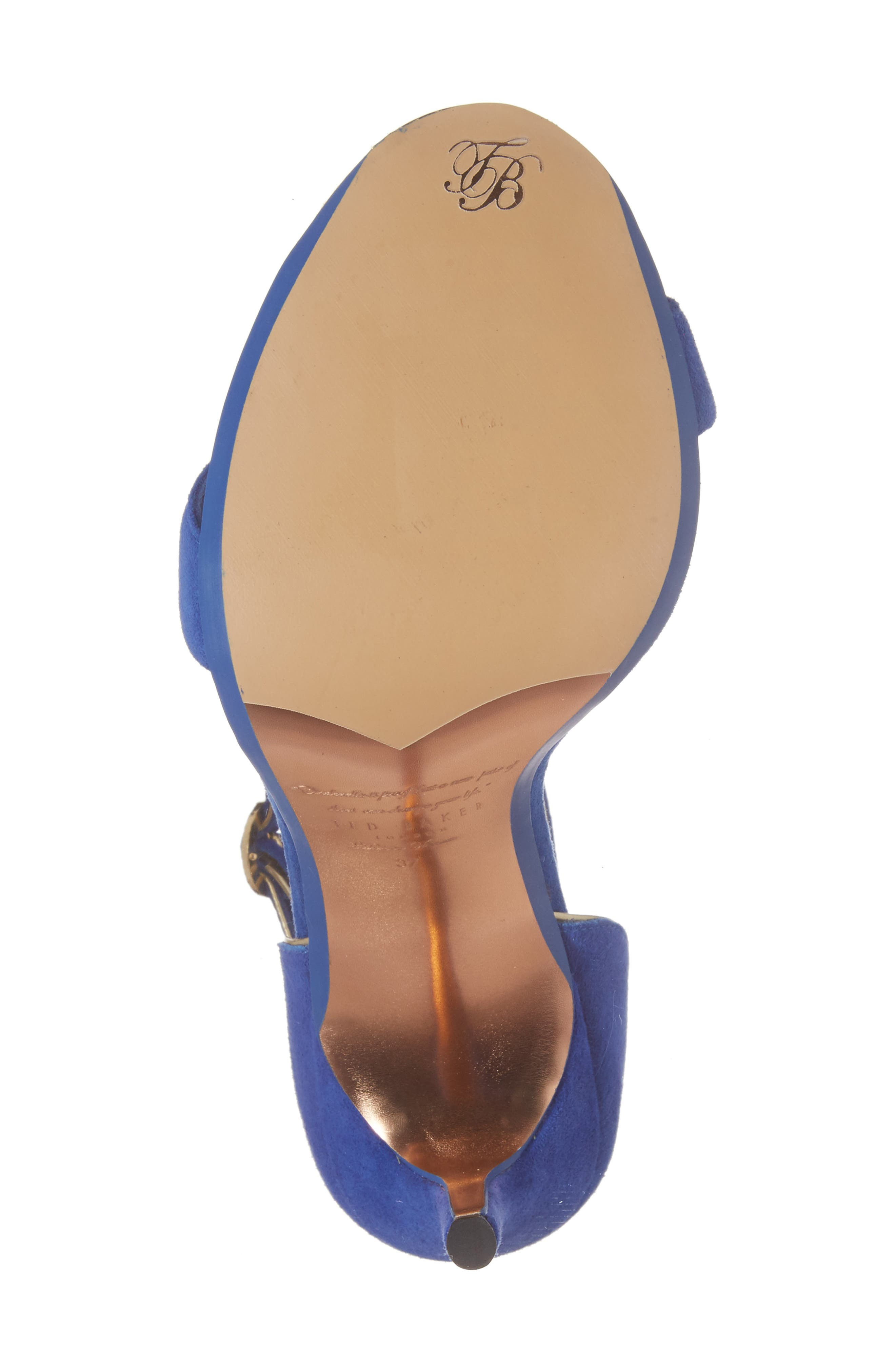 Mirobell Ankle Strap Sandal,                             Alternate thumbnail 6, color,                             Blue Suede