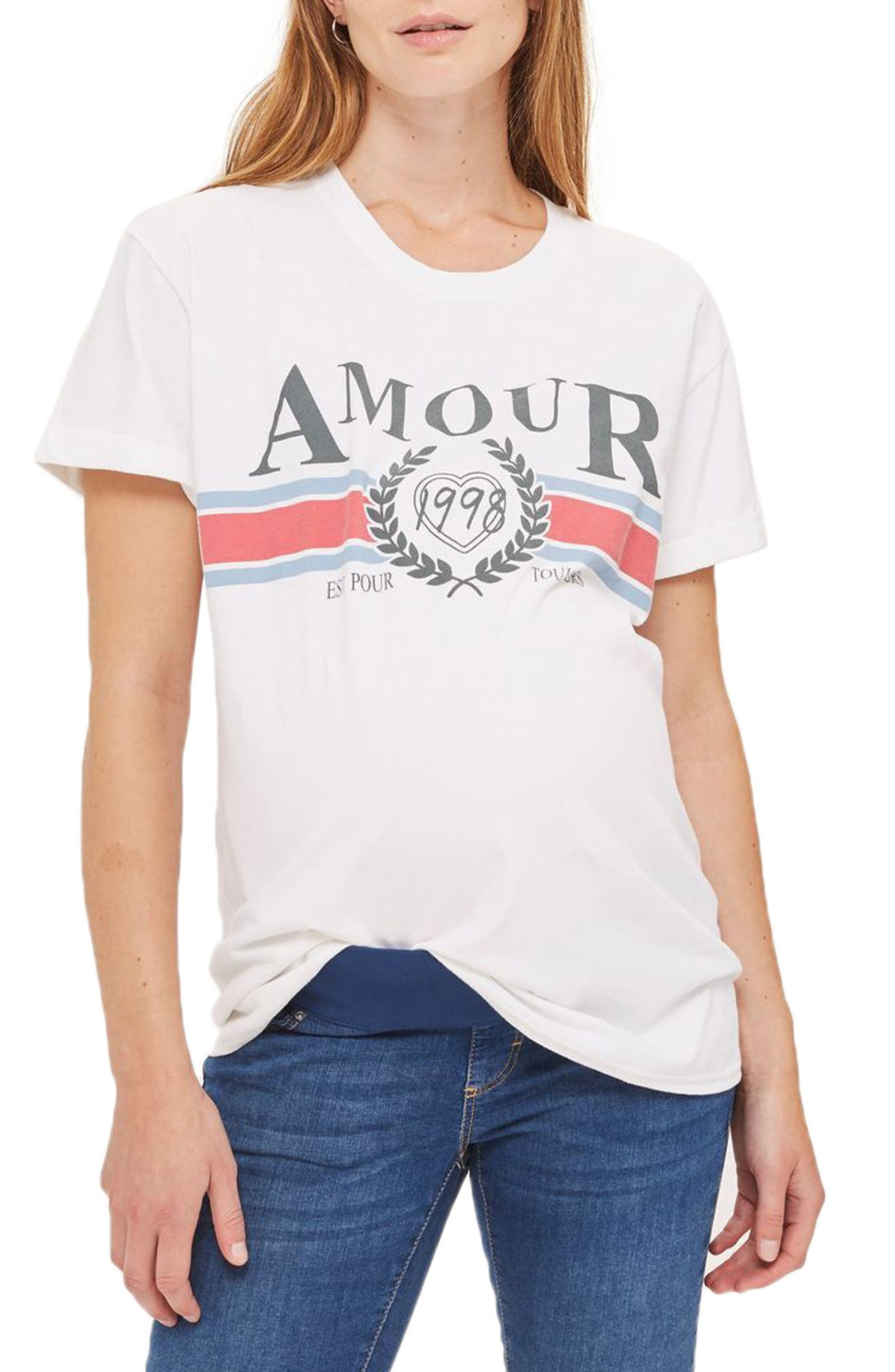 Topshop Amour Maternity Tee