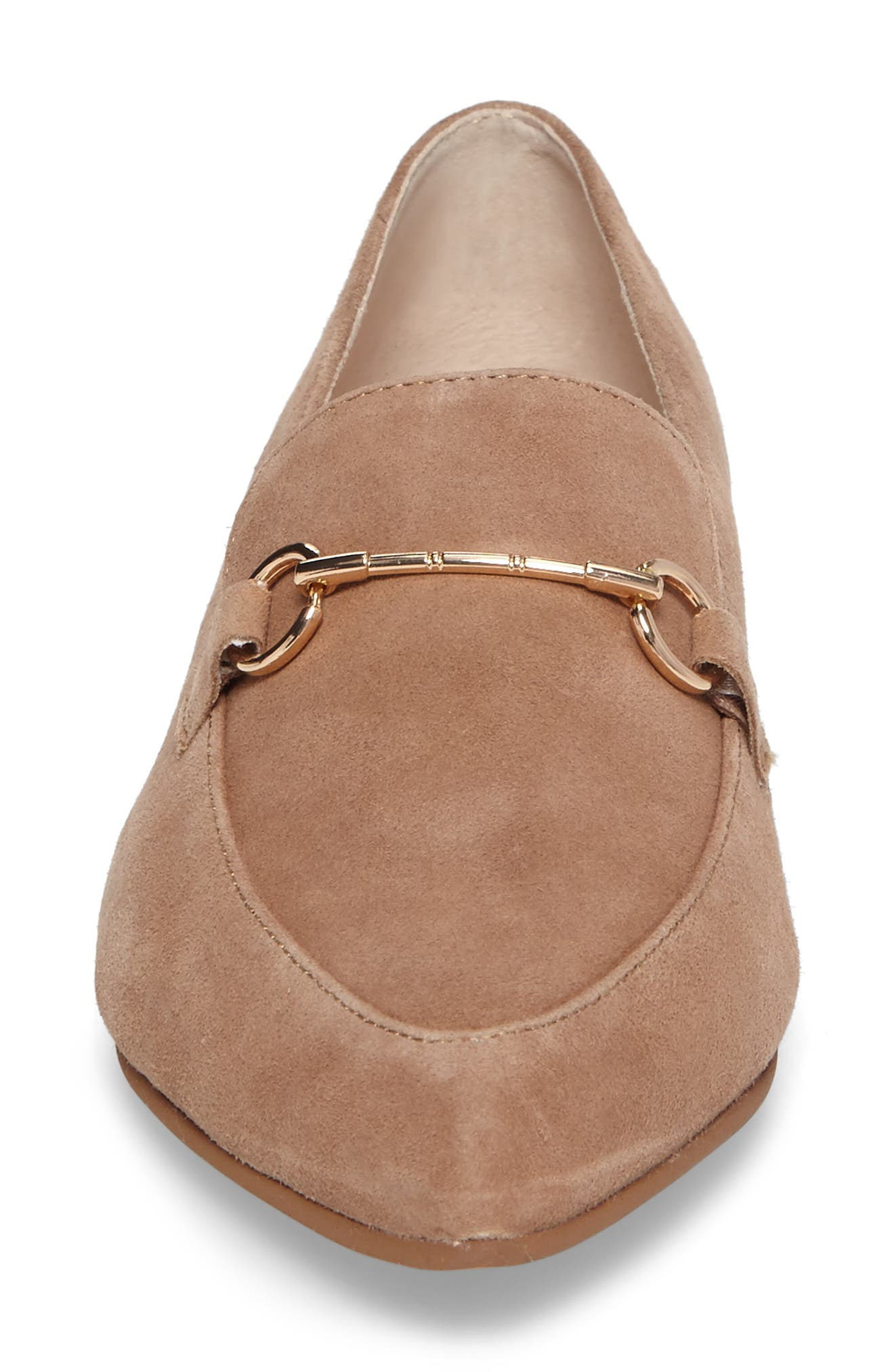 Cambrie Loafer Flat,                             Alternate thumbnail 4, color,                             Clay Suede