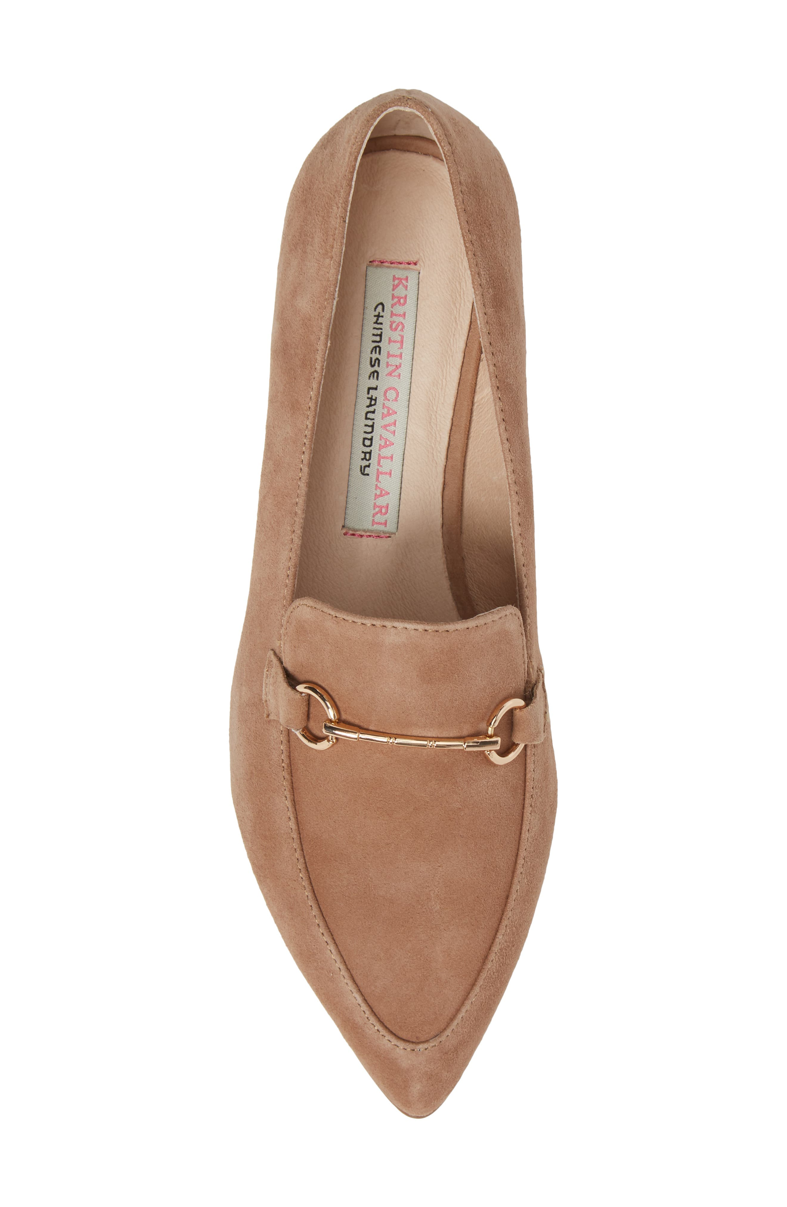 Cambrie Loafer Flat,                             Alternate thumbnail 5, color,                             Clay Suede